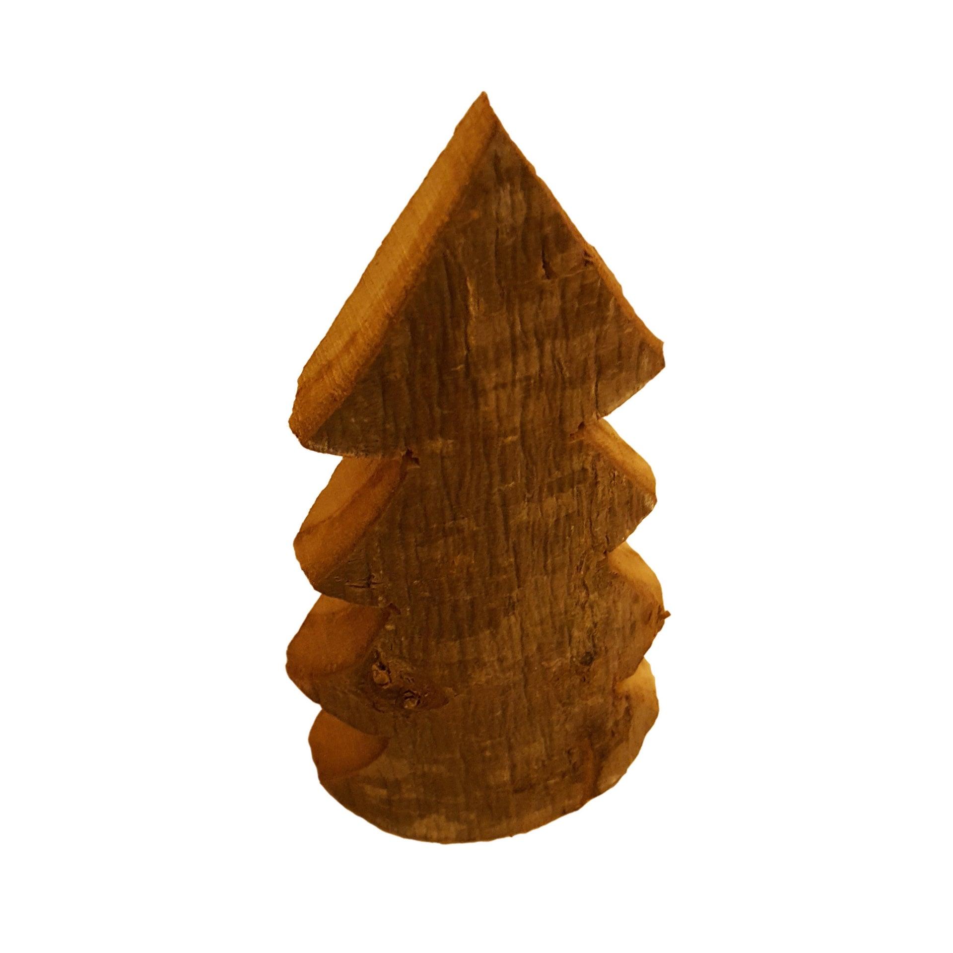 Sagoma decorativa piramide in castagno grezzo 40 x - 2