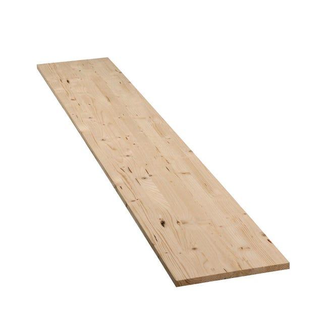 Tavola legno lamellare abete 100 x 40 cm Sp 18 mm - 1