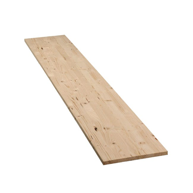 Tavola legno lamellare abete 200 x 40 cm Sp 18 mm - 1