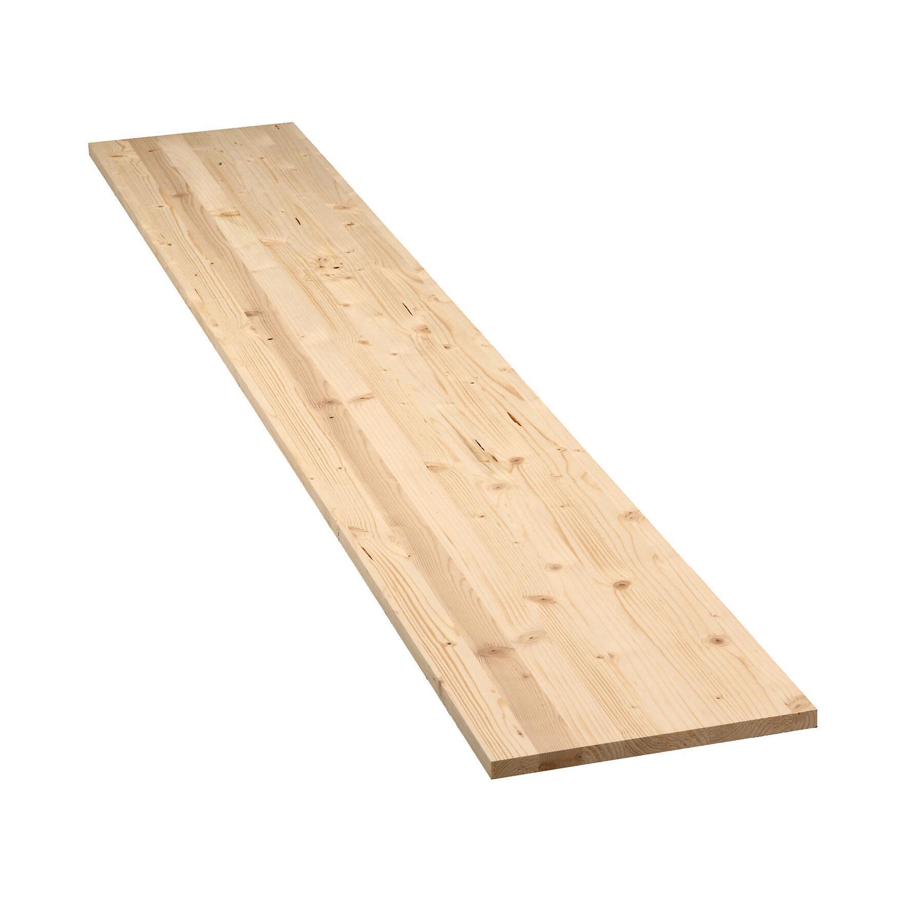 Tavola legno lamellare abete 200 x 30 cm Sp 18 mm - 1