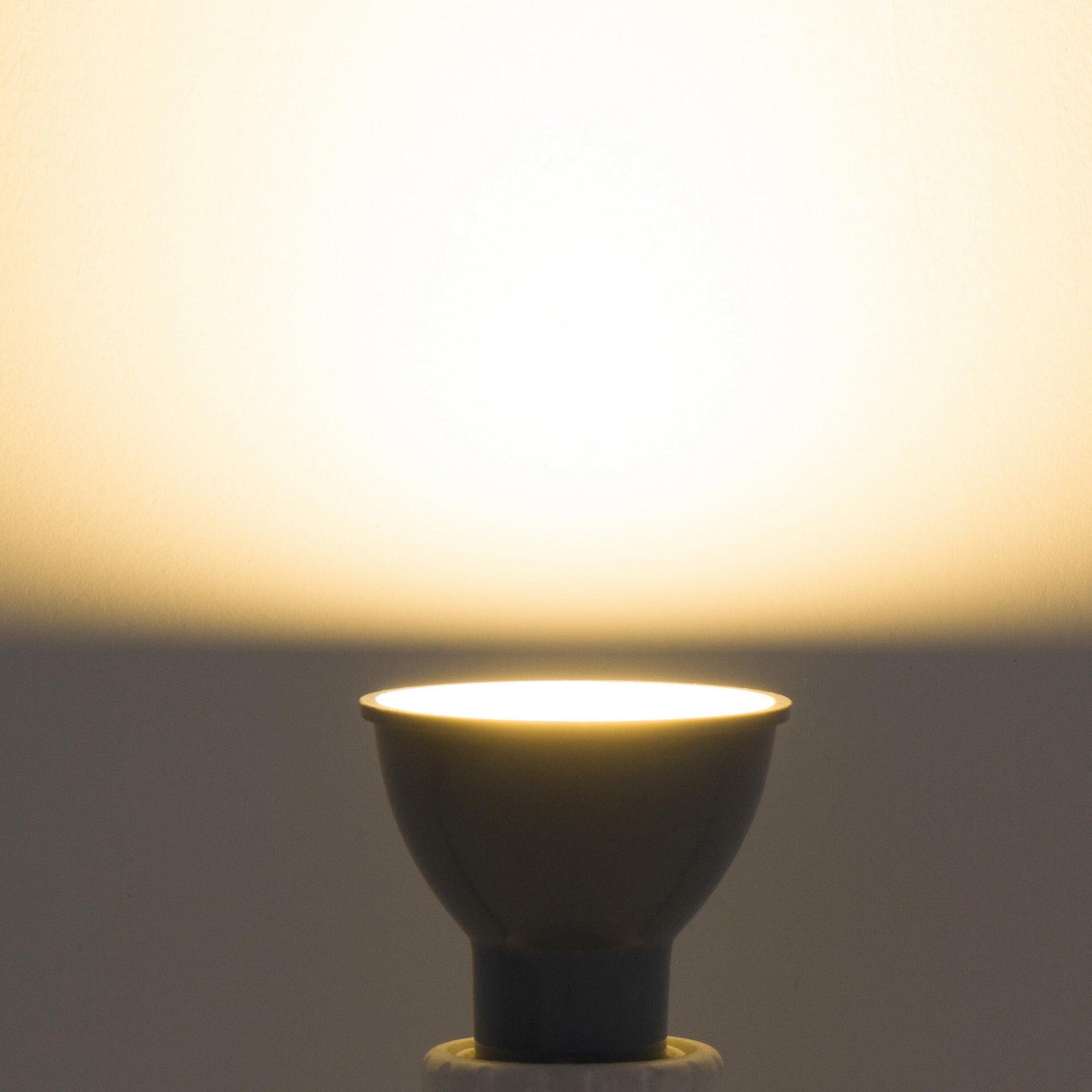 Lampadina LED, GU10, Faretto, Smerigliato, Luce calda, 6W=450LM (equiv 50 W), 100° , LEXMAN - 3