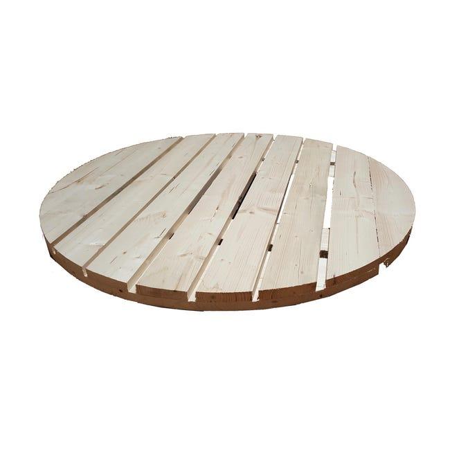 Piano tavolo tondo in abete grezzo 44 mm Ø 1000 mm - 1