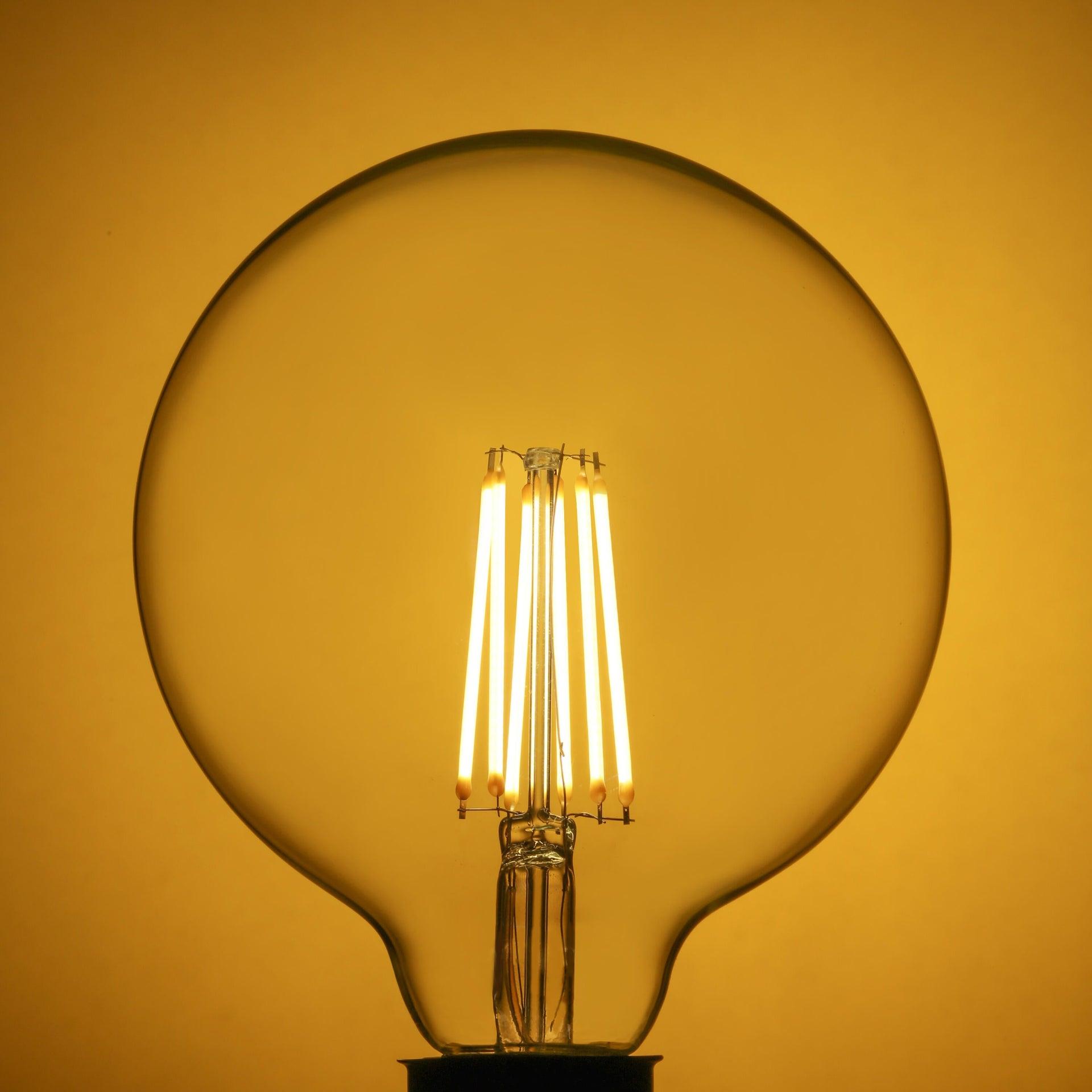 Lampadina LED filamento, E27, Globo, Trasparente, Luce calda, 10.5W=1521LM (equiv 100 W), 360° , LEXMAN - 4