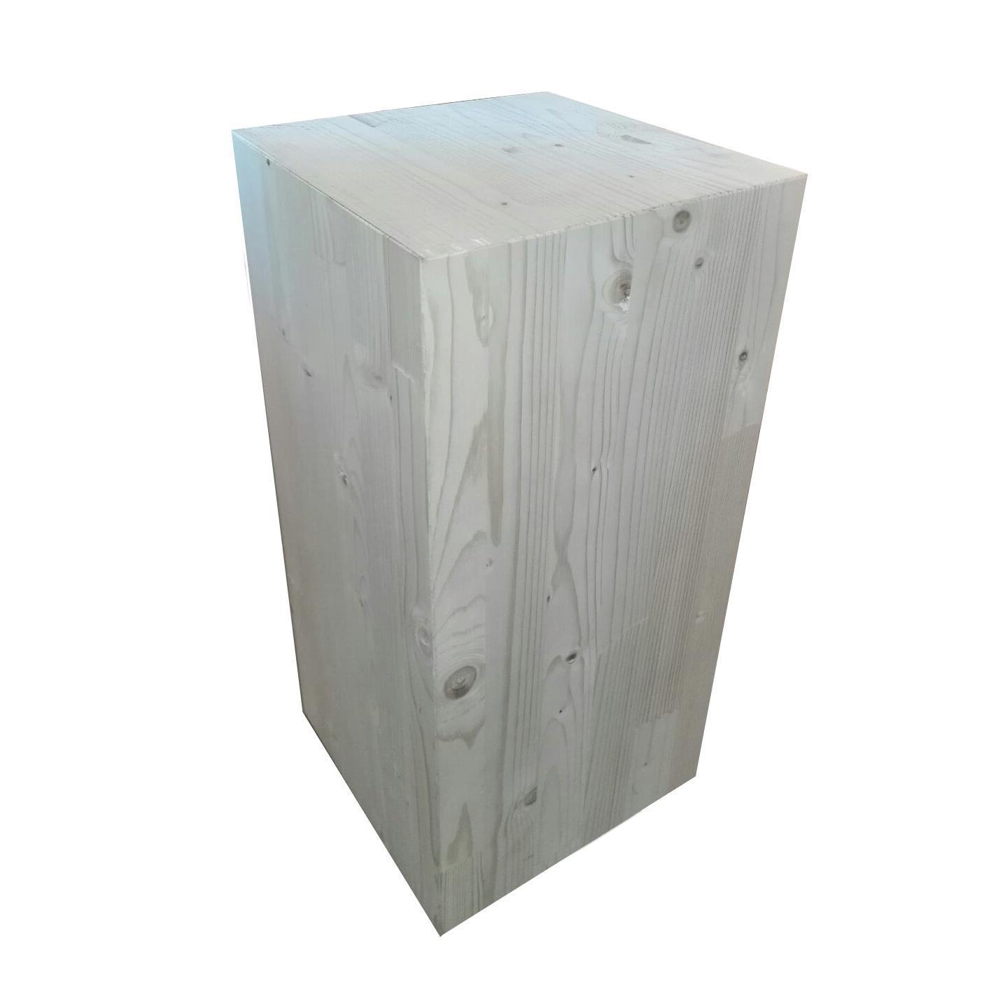 Sagoma decorativa cubo in abete grezzo 300 x 300 x 450 mm - 2