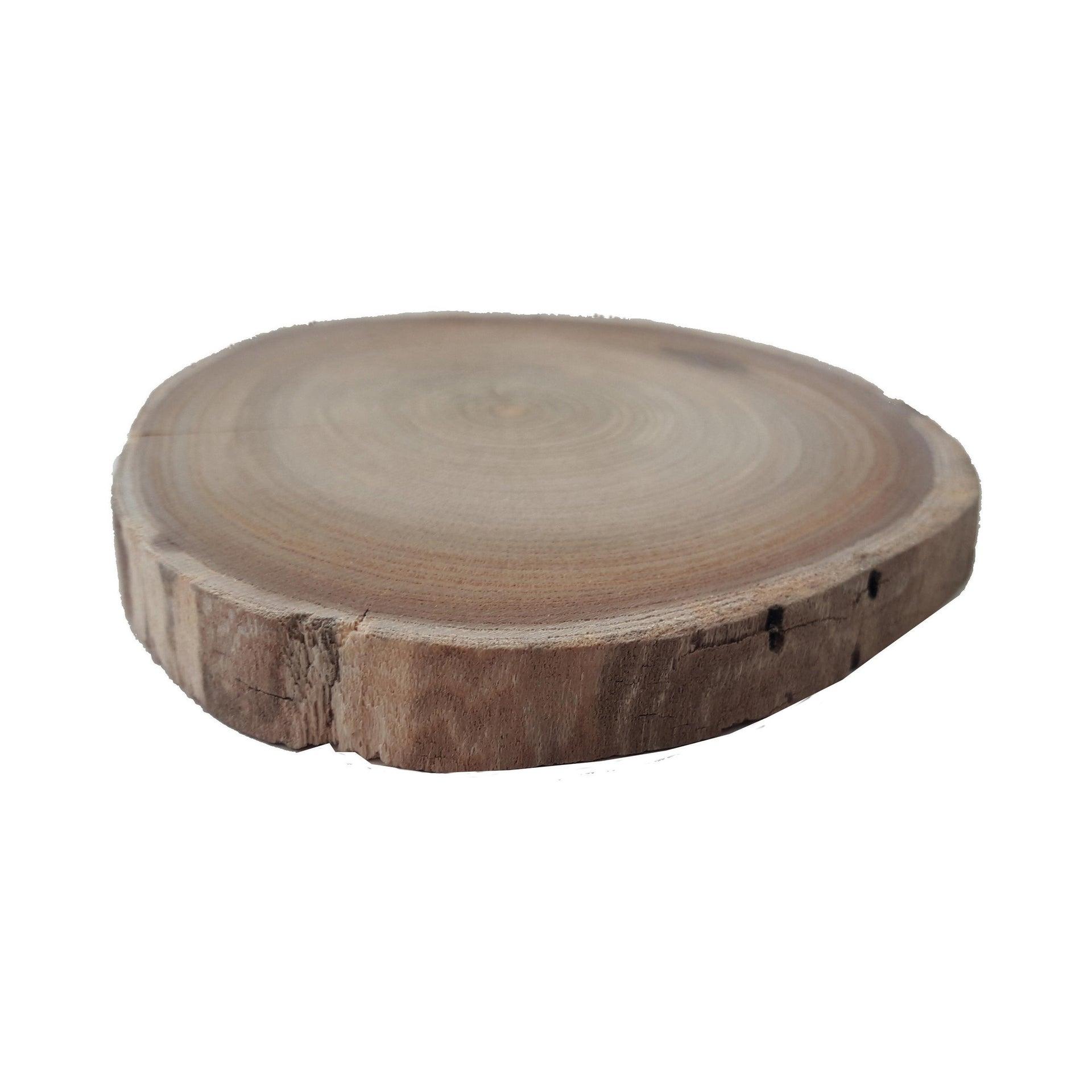 Rondella tondo in castagno grezzo 10 mm Ø 80/120 mm - 2