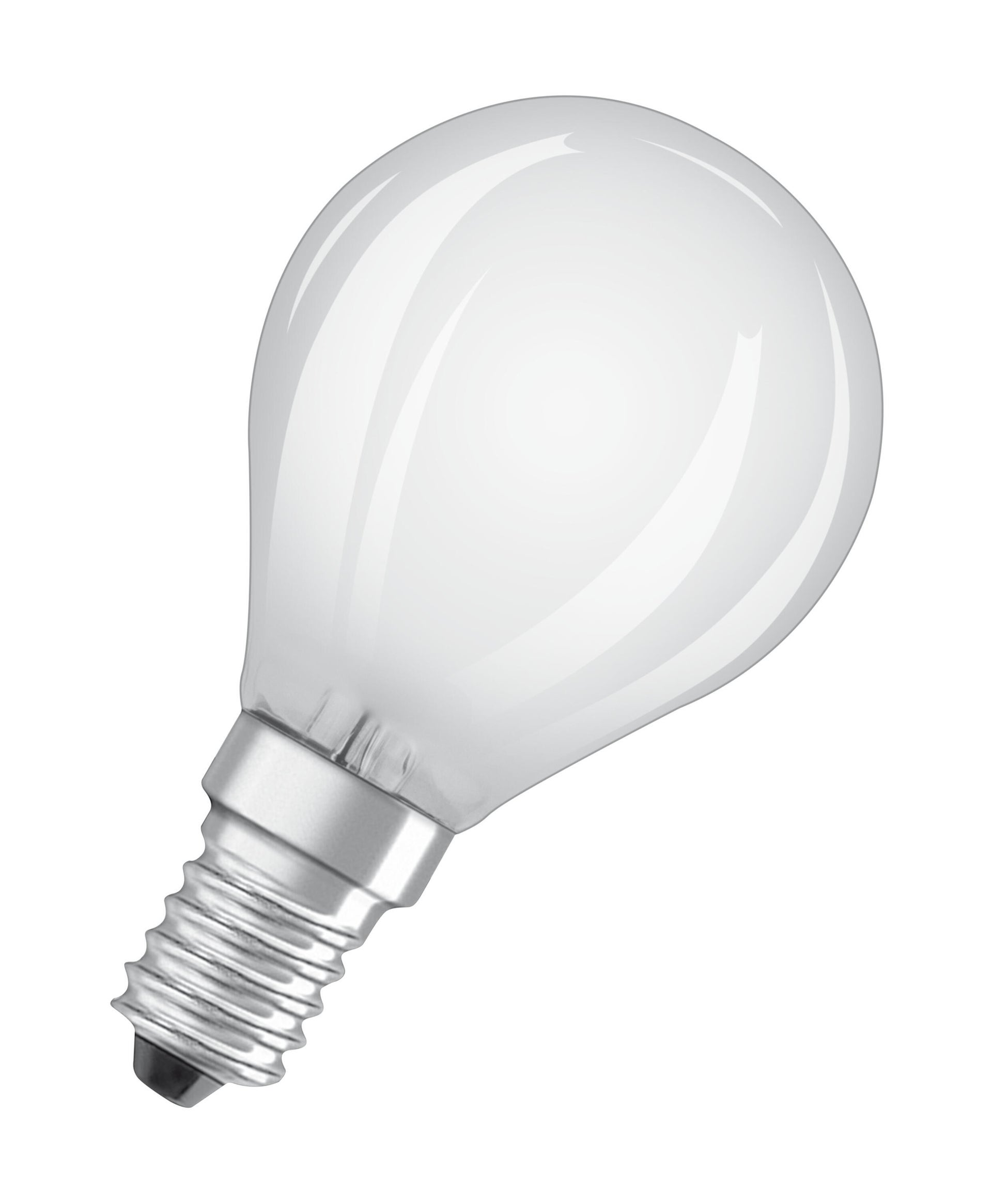 Lampadina LED filamento, E14, Sferico, Opaco, Luce naturale, 5W=470LM (equiv 40 W), 320° , OSRAM - 6