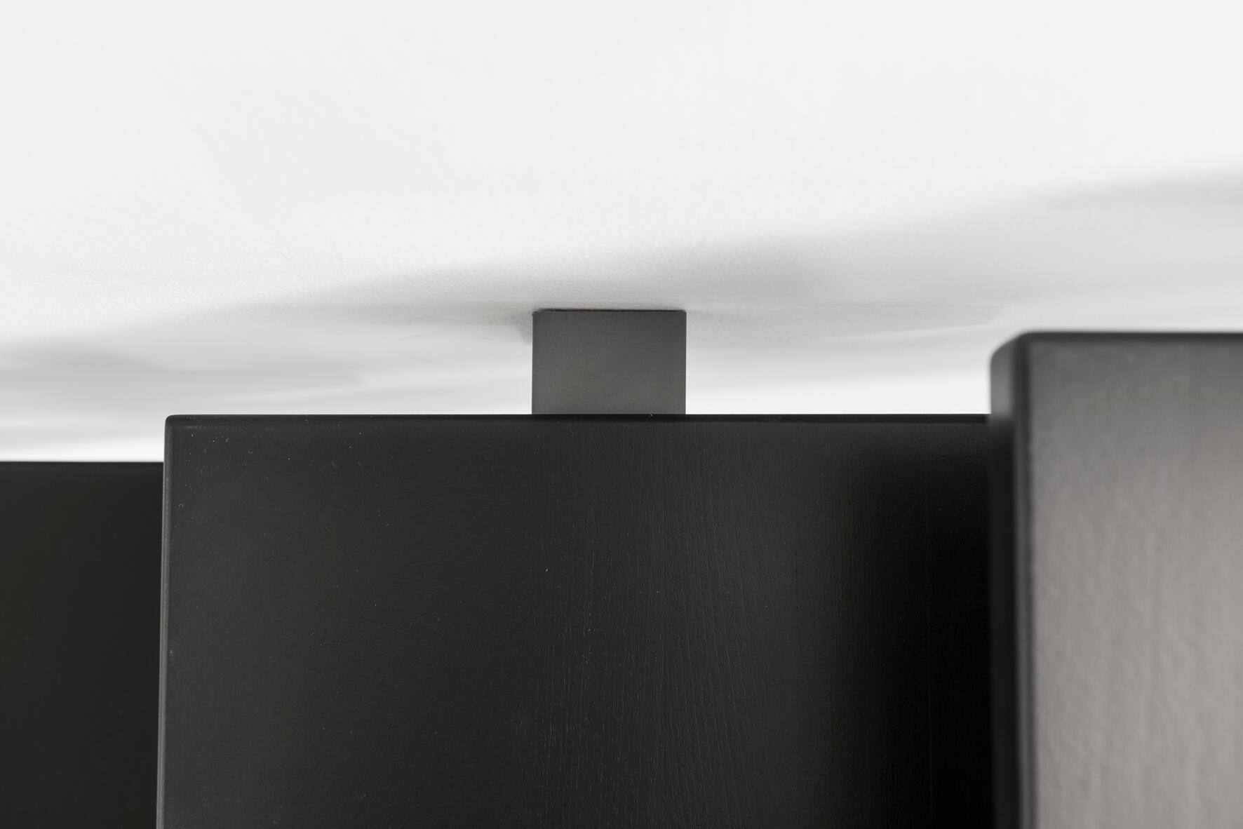 Scala a rampa 1/4 di giro Mas FONTANOT L 85 cm, gradino grigio antracite scuro, struttura antracite - 7