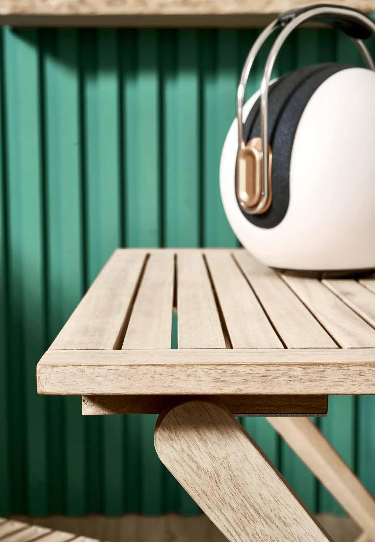 Tavolo da giardino rettangolare Solis NATERIAL con piano in legno L 70 x P 114 cm - 4