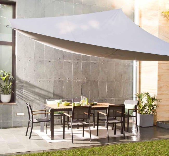 Vela ombreggiante triangolare grigio antracite 300 x 400 cm - 1