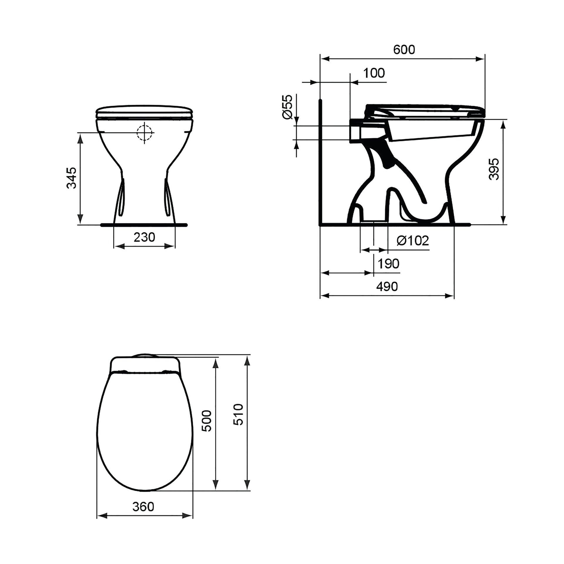Vaso wc a pavimento miky CERAMICA DOLOMITE - 2