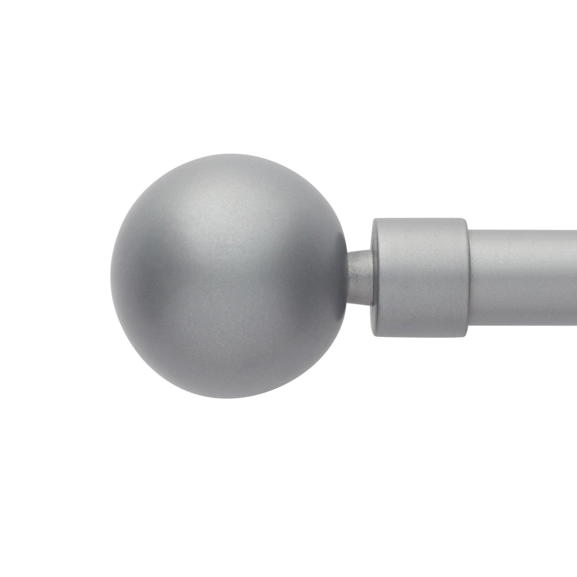 Kit bastone per tenda estensibile Palla in metallo Ø 13/16 mm grigio laccato da 120 a 210 cm - 2