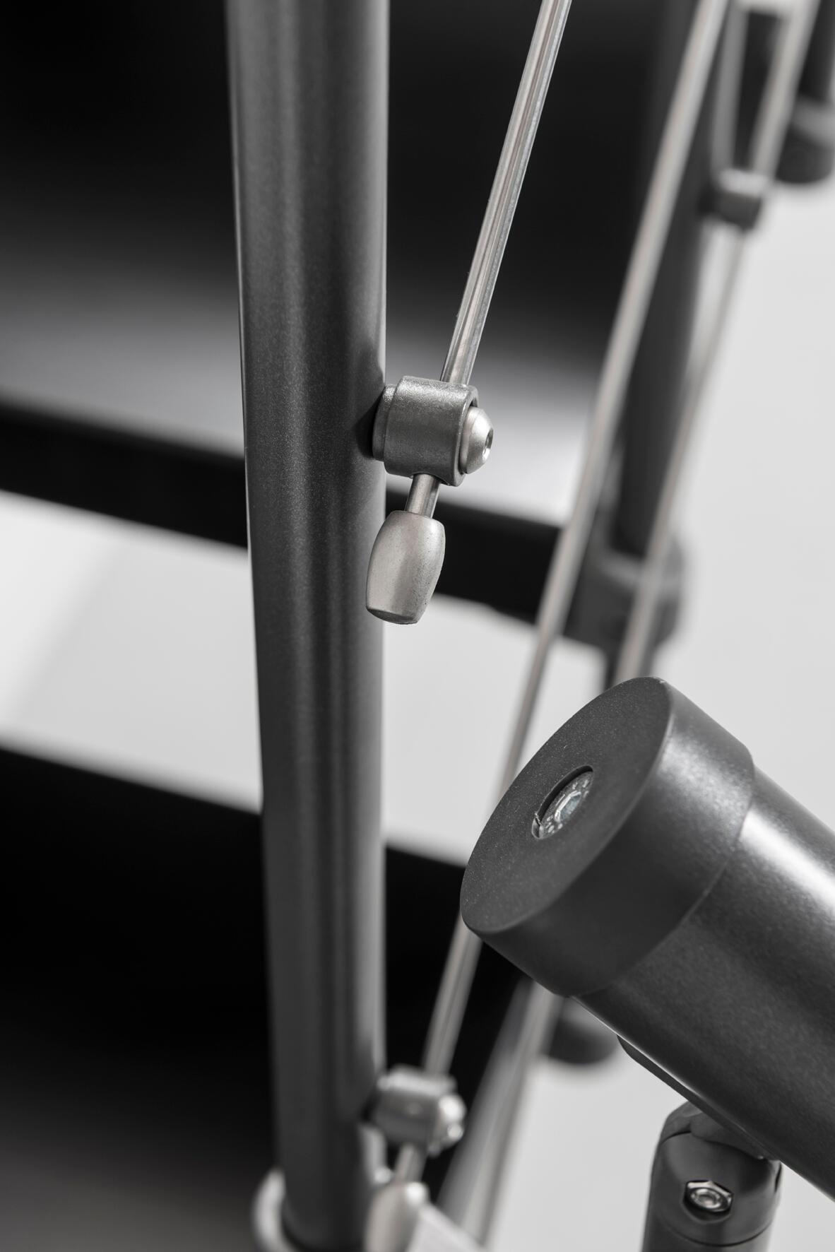 Scala a rampa 1/4 di giro Mas FONTANOT L 85 cm, gradino grigio antracite scuro, struttura antracite - 28
