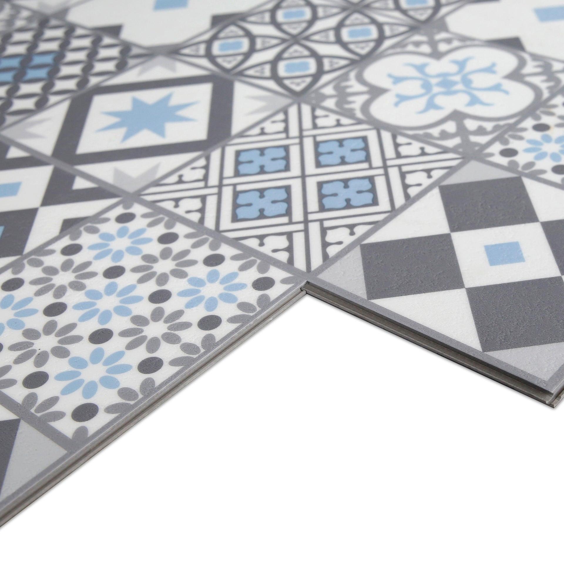 Pavimento PVC flottante clic+ Gatsby Blu Sp 4.2 mm multicolore - 3