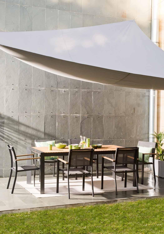 Vela ombreggiante triangolare grigio antracite 300 x 400 cm - 2