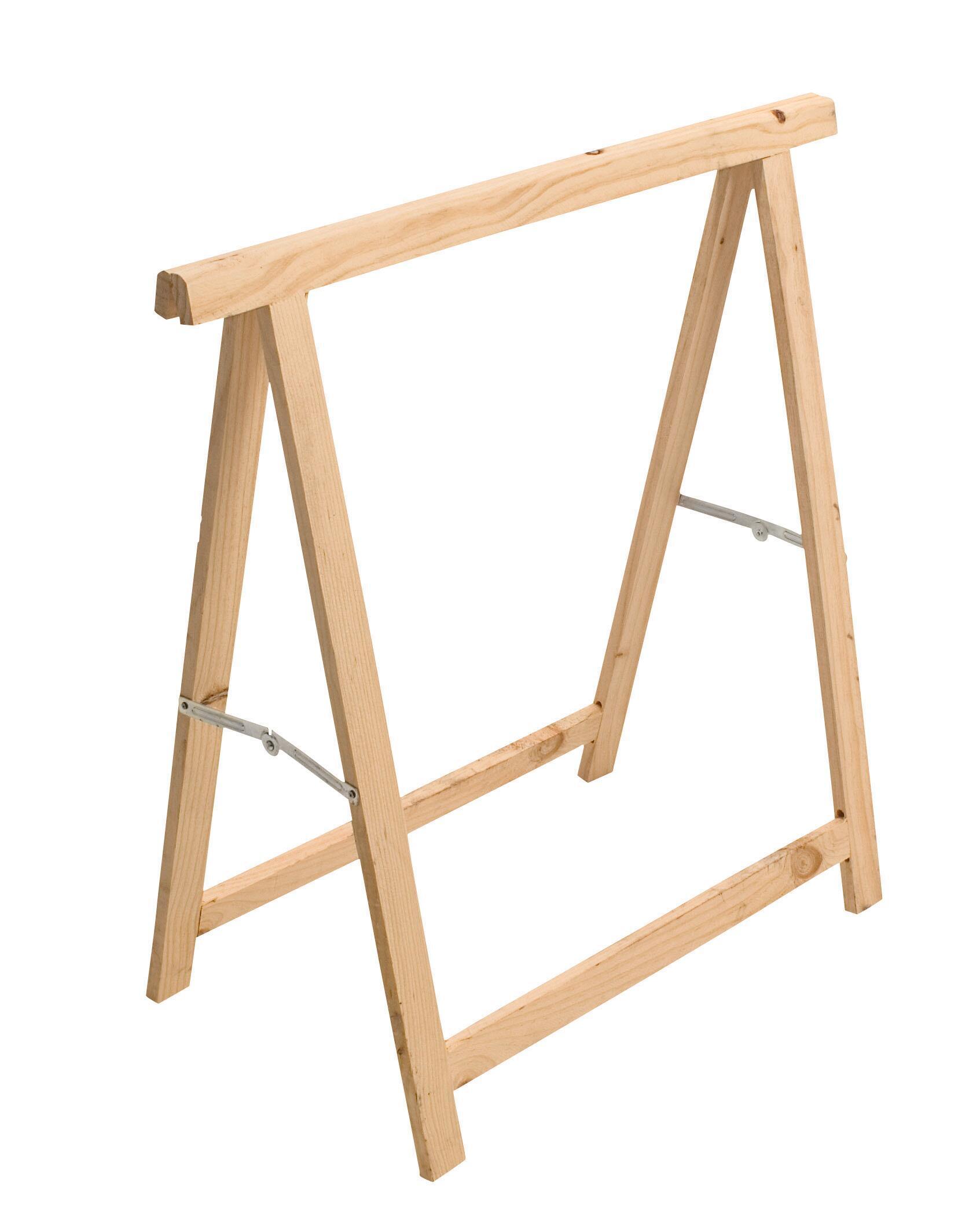 Cavalletto in pino Standard L 73.5 x P 73.5 x H 74 cm legno naturale - 10