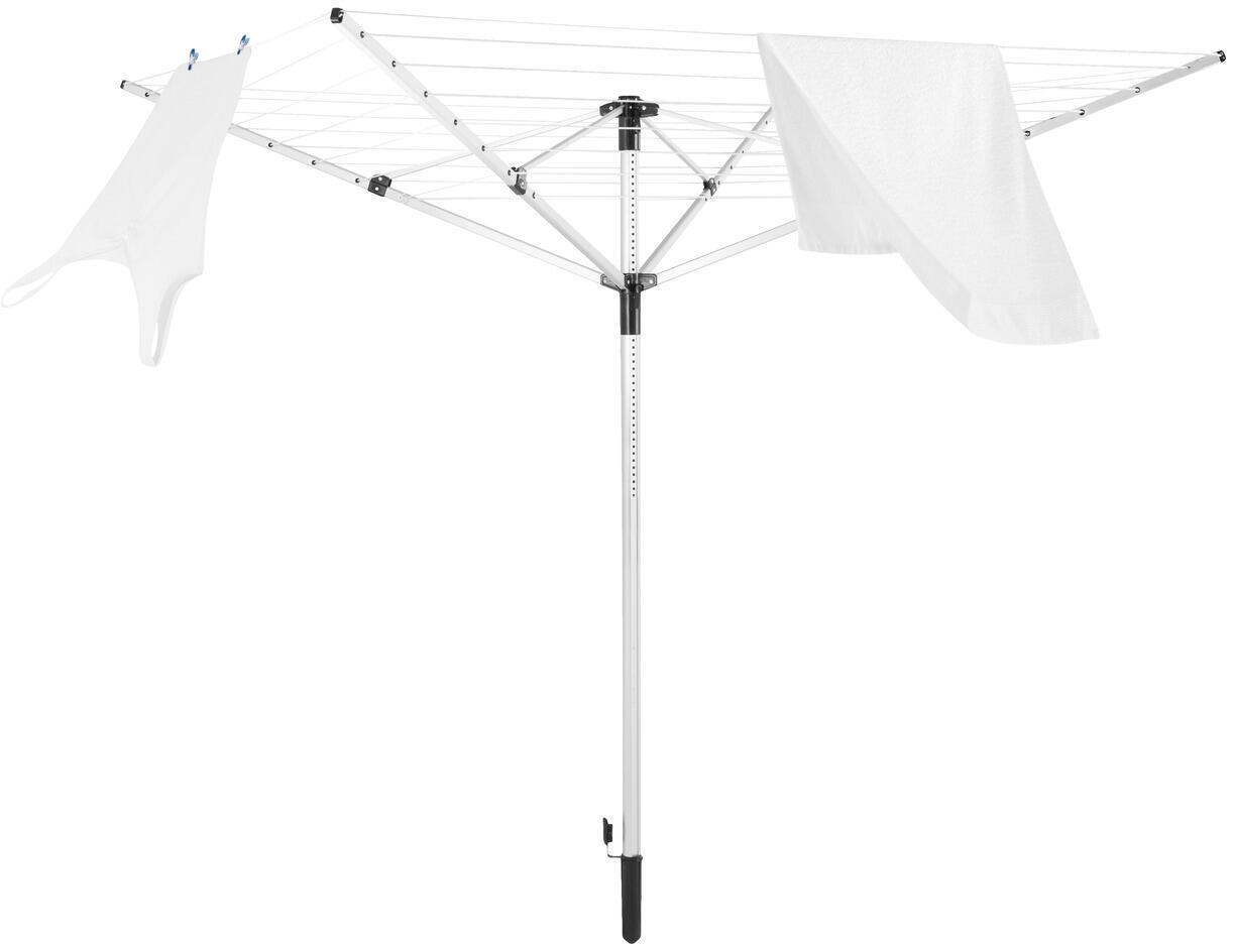 Stendibiancheria LEIFHEIT LinoPush 400 a ombrello in alluminio L 203 cm grigio / argento - 2