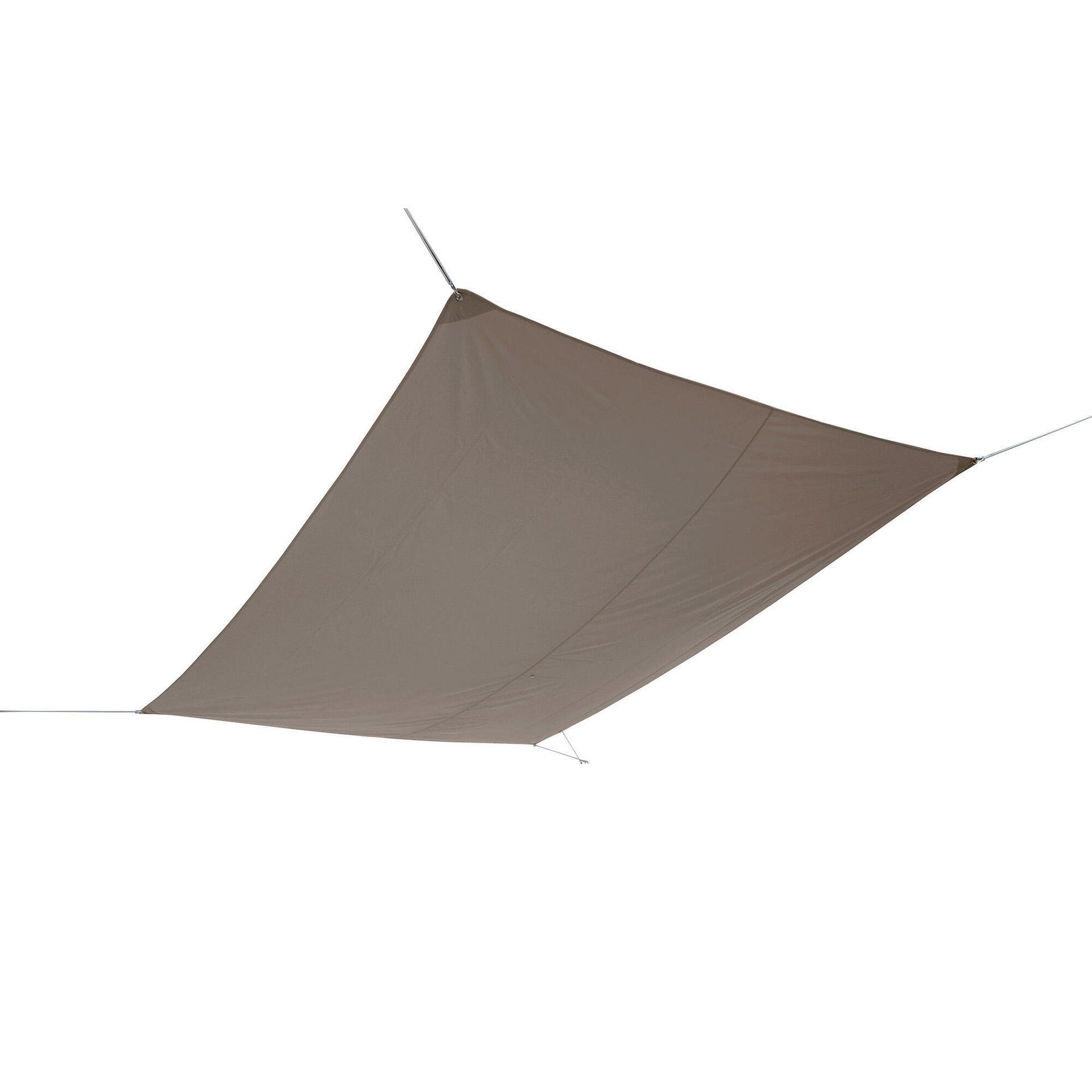 Vela ombreggiante Shade rettangolare tortora 300 x 400 cm - 6