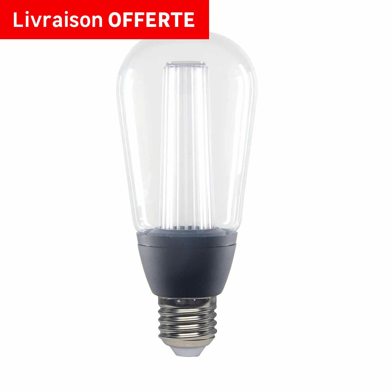 Lampadina LED, E27, Goccia, Trasparente, CCT, 6W=470LM (equiv 40 W), 150° , LEXMAN - 6