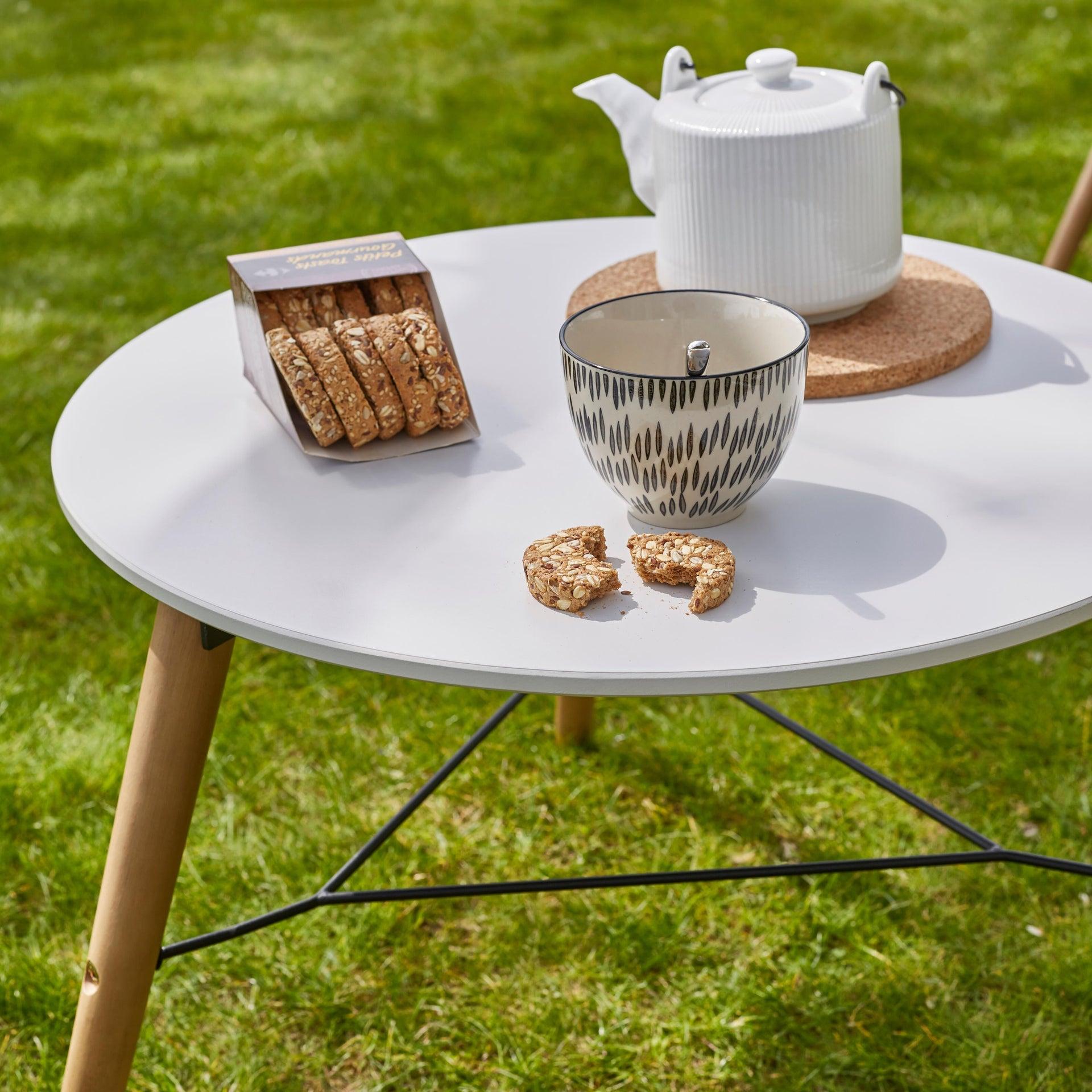 Tavolino da giardino rotondo Chamonix con piano in composito Ø 60 cm - 3
