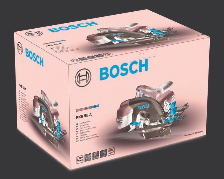 Sega circolare BOSCH PKS 55 A 1200 W Ø 160 mm - 4