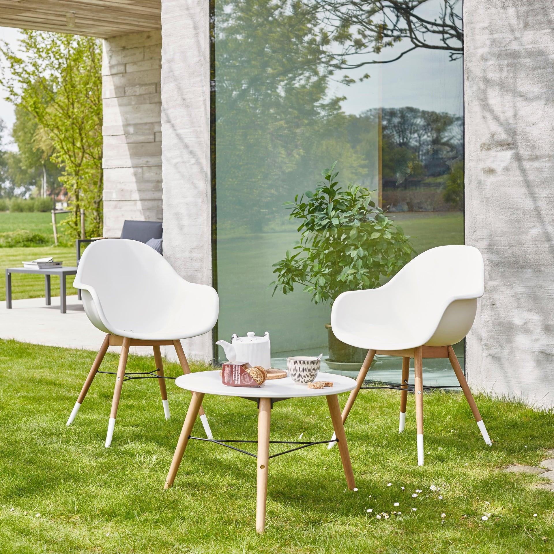 Tavolino da giardino rotondo Chamonix con piano in composito Ø 60 cm - 2