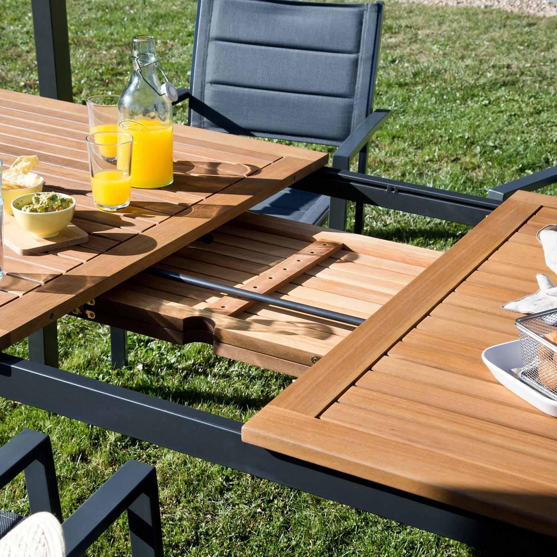 Tavolo da giardino allungabile rettangolare Oris NATERIAL con piano in legno L 180/240 x P 98.9 cm - 15