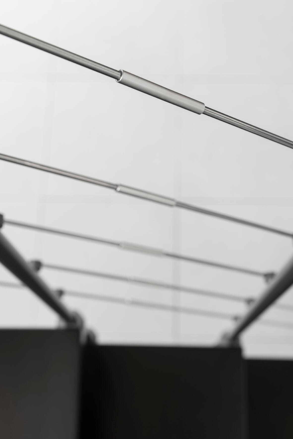 Scala a rampa 1/4 di giro Mas FONTANOT L 85 cm, gradino grigio antracite scuro, struttura antracite - 26