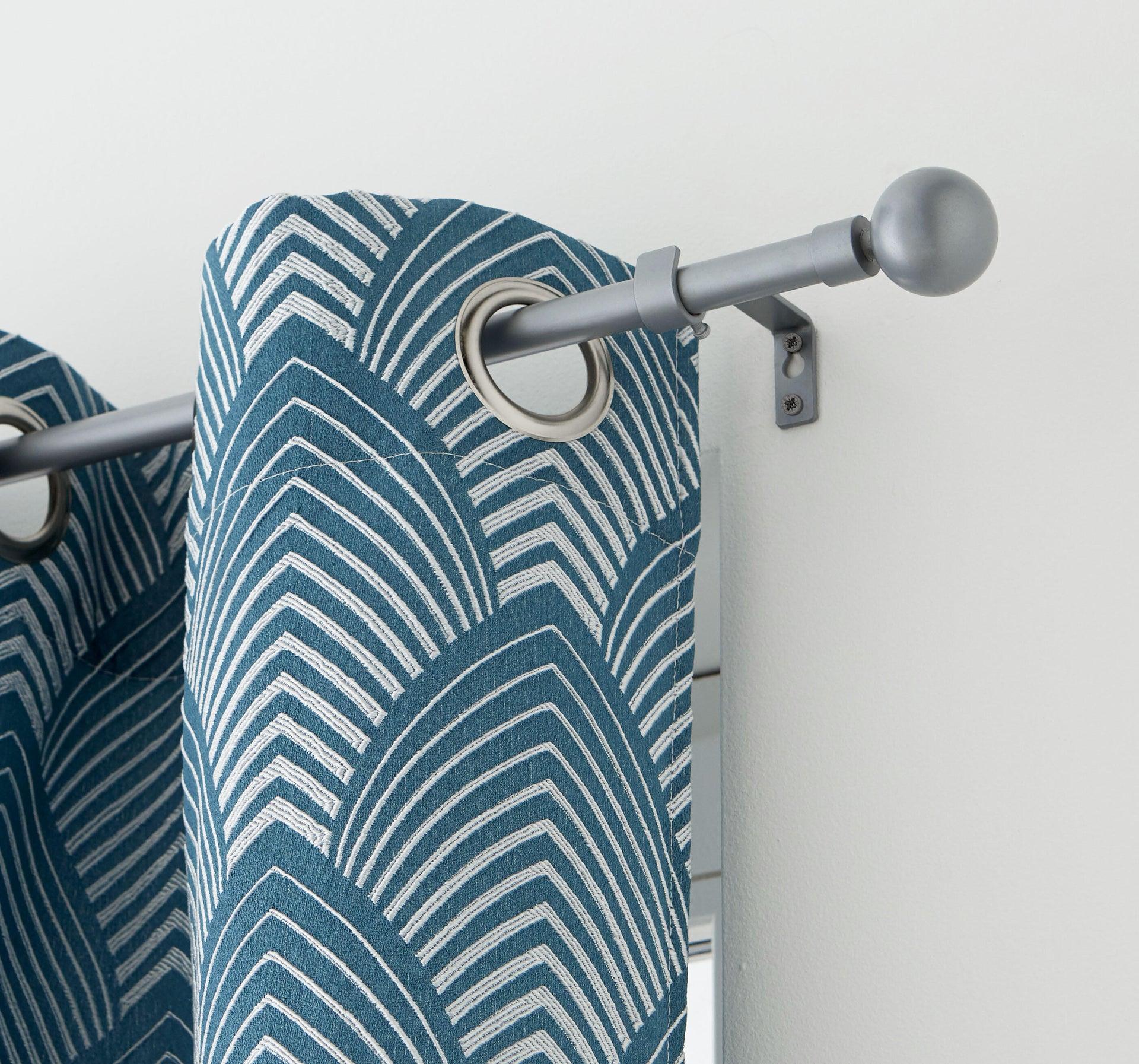 Kit bastone per tenda estensibile Palla in metallo Ø 13/16 mm grigio laccato da 120 a 210 cm - 6