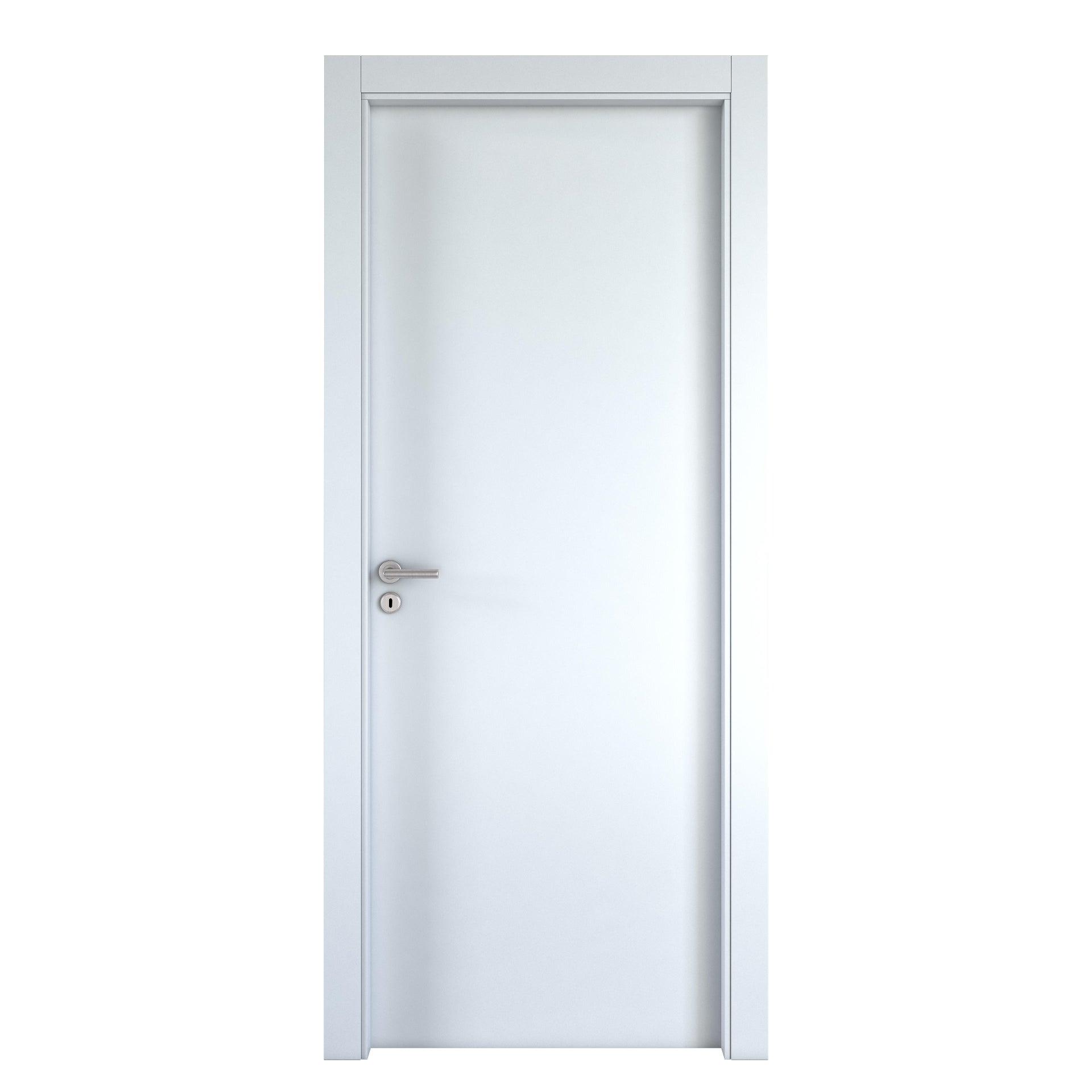 Porta a battente Cream bianco L 80 x H 210 cm reversibile - 3