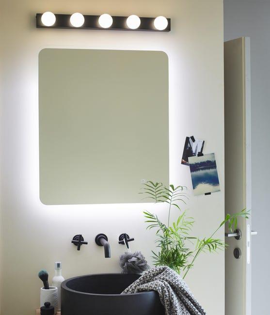 Applique moderno Smila LED integrato nero, in metallo, 60x60 cm, 5 luci INSPIRE - 1