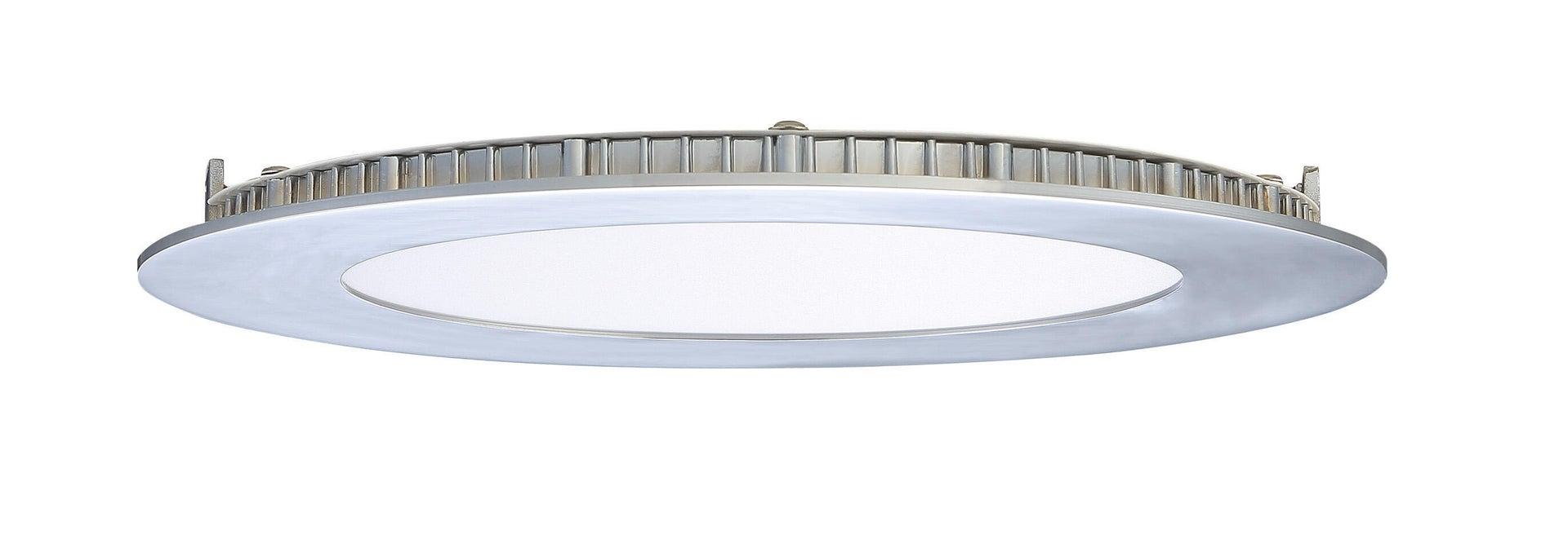 Faretto fisso da incasso tondo Ex.bath in Alluminio nichel, diam. 12 cm LED integrato 900LM IP44 INSPIRE - 2