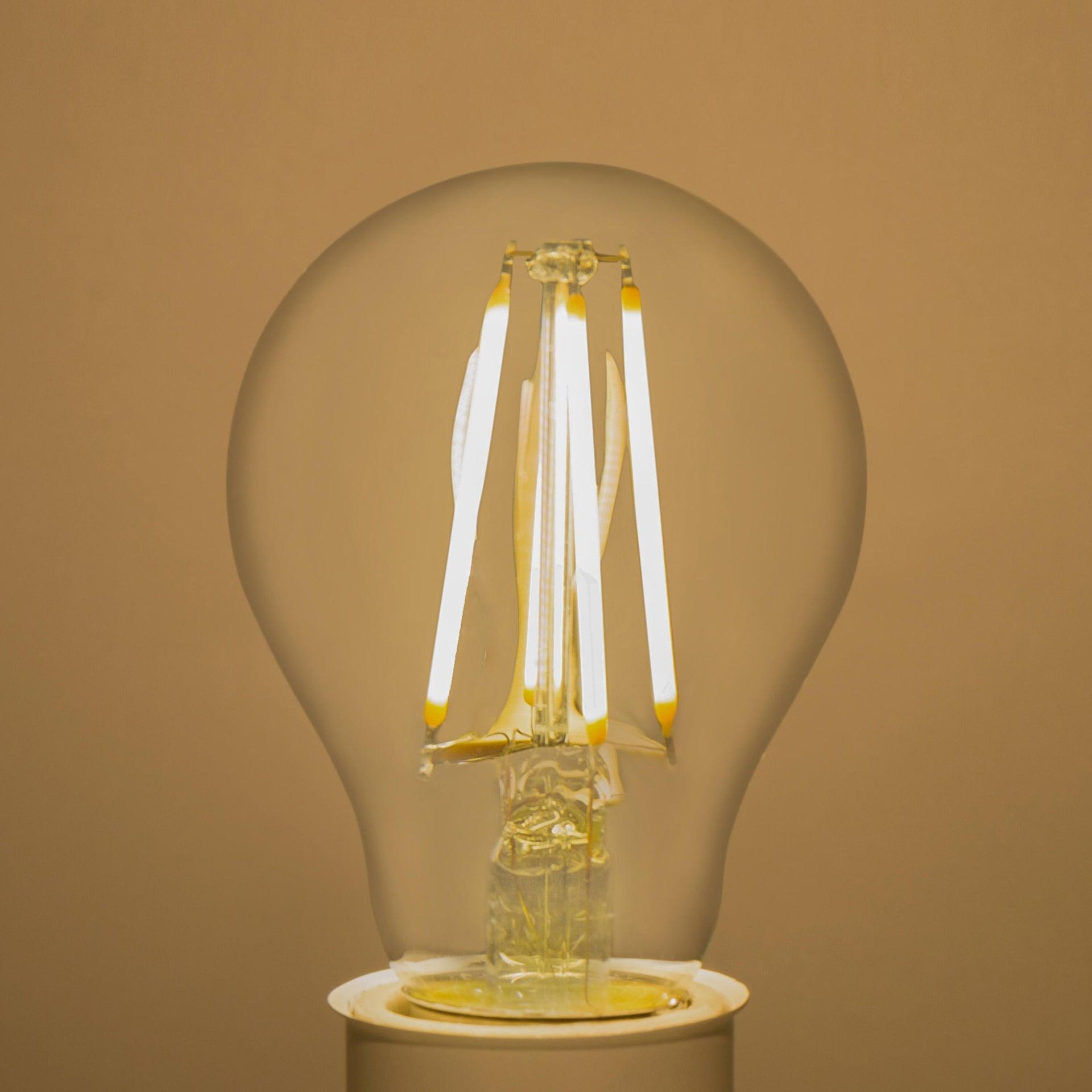 Lampadina LED filamento, E27, Goccia, Trasparente, Luce calda, 6W=806LM (equiv 60 W), 360° , LEXMAN - 2