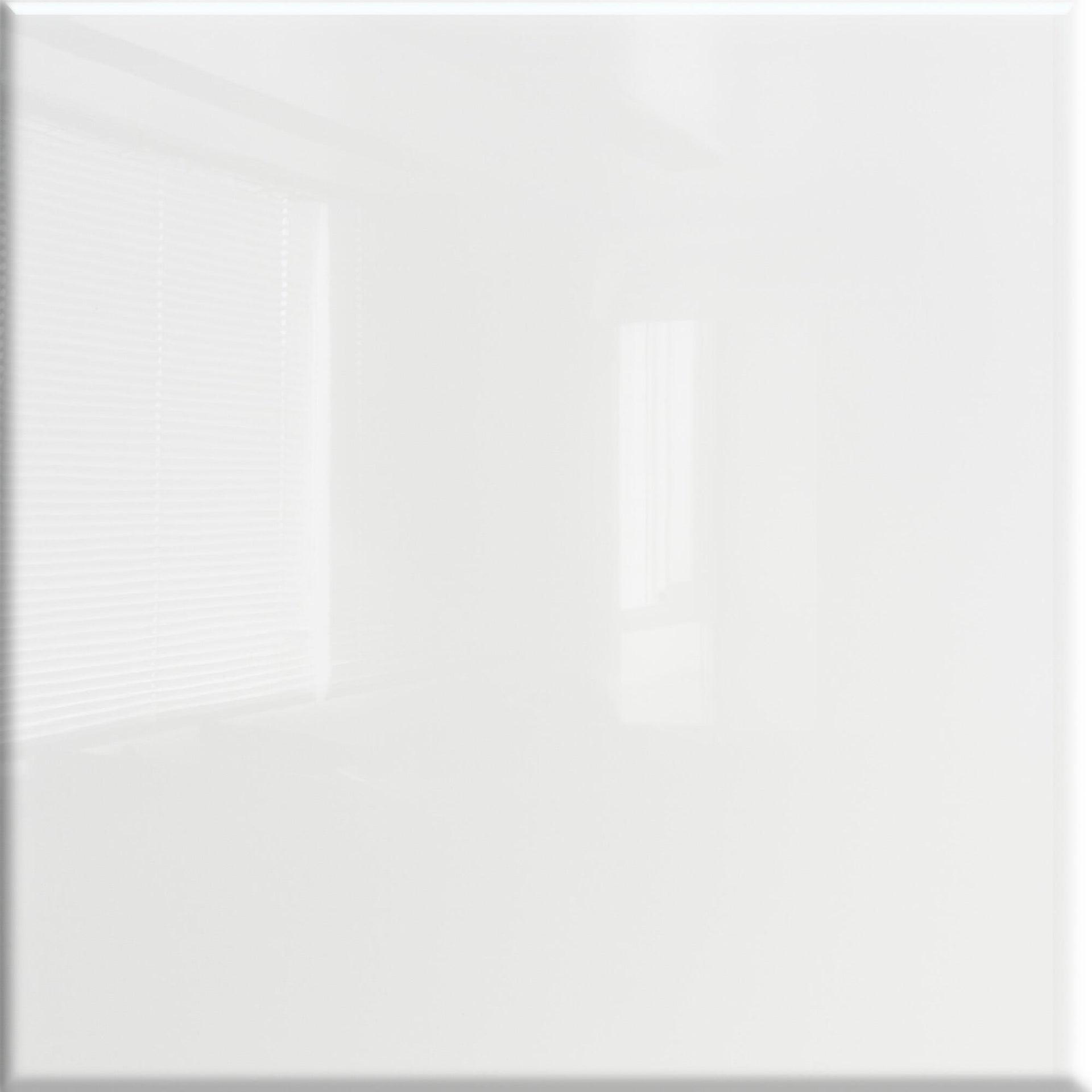 Piastrella Lucido 20 x 20 cm sp. 7 mm bianco - 6