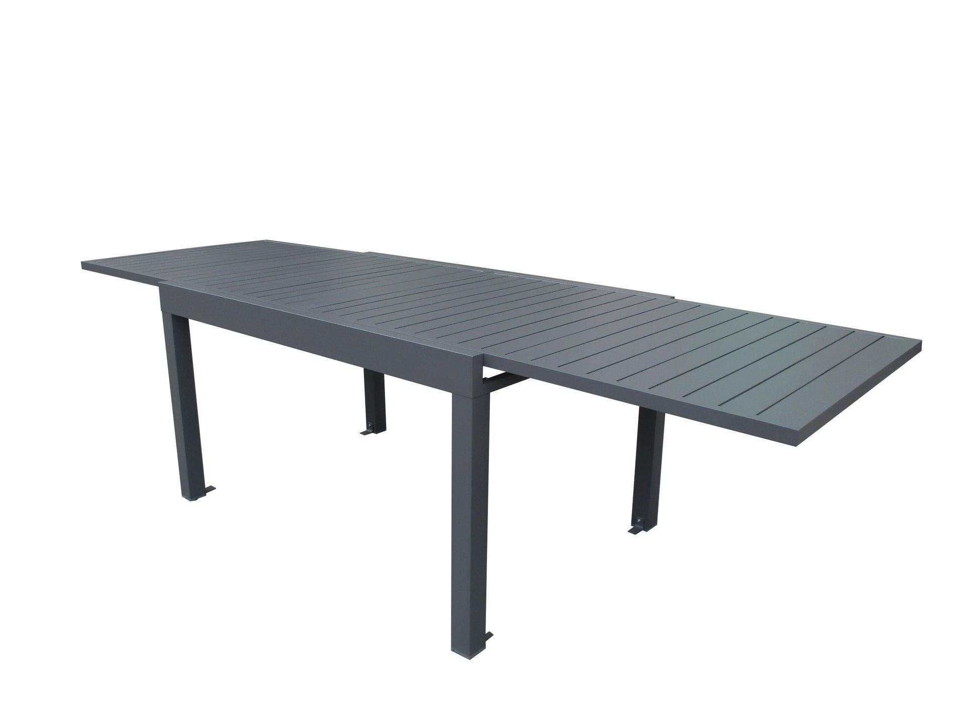 Tavolo da giardino allungabile rettangolare Lisbon con piano in alluminio L 135/270 x P 90 cm - 15