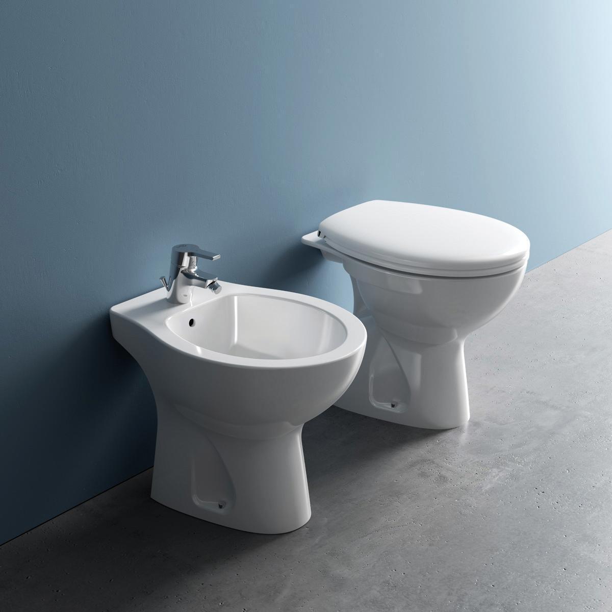 Coppia sanitari pavimento distanziato Miky New IDEAL STANDARD - 1