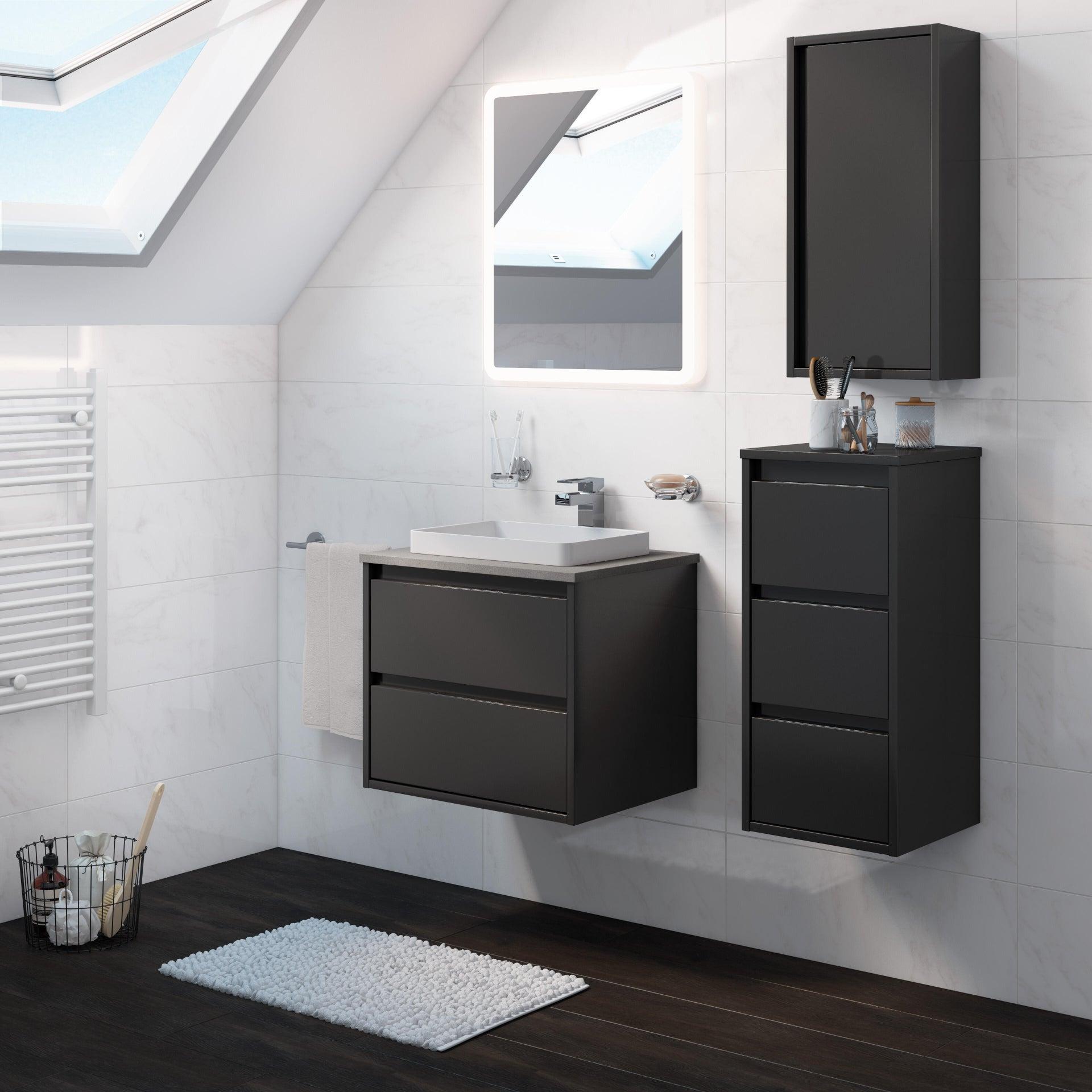 Mobile bagno Loto grigio L 60 cm - 1