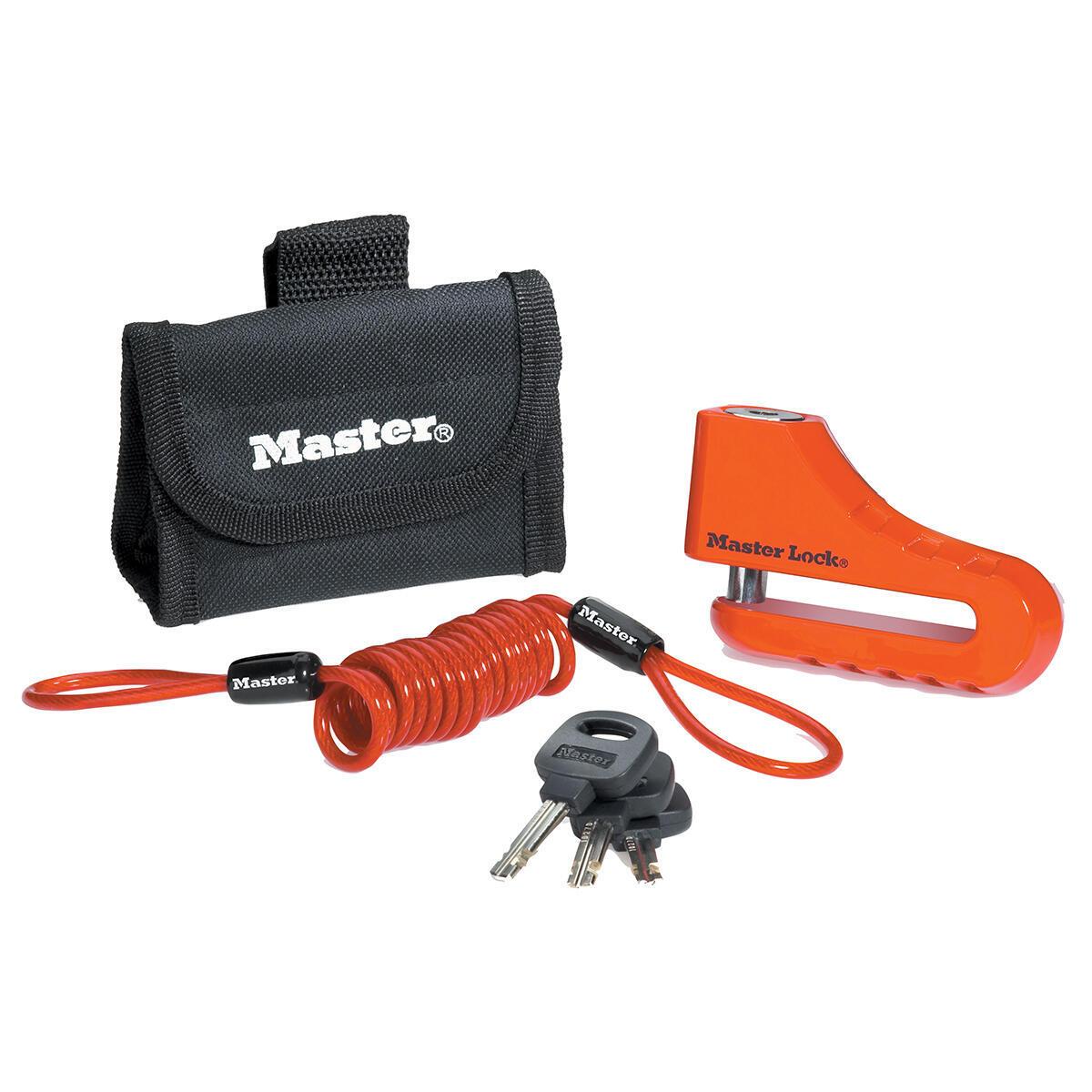 Blocca disco per moto con chiave MASTER LOCK 8304EURDPS rosso - 1