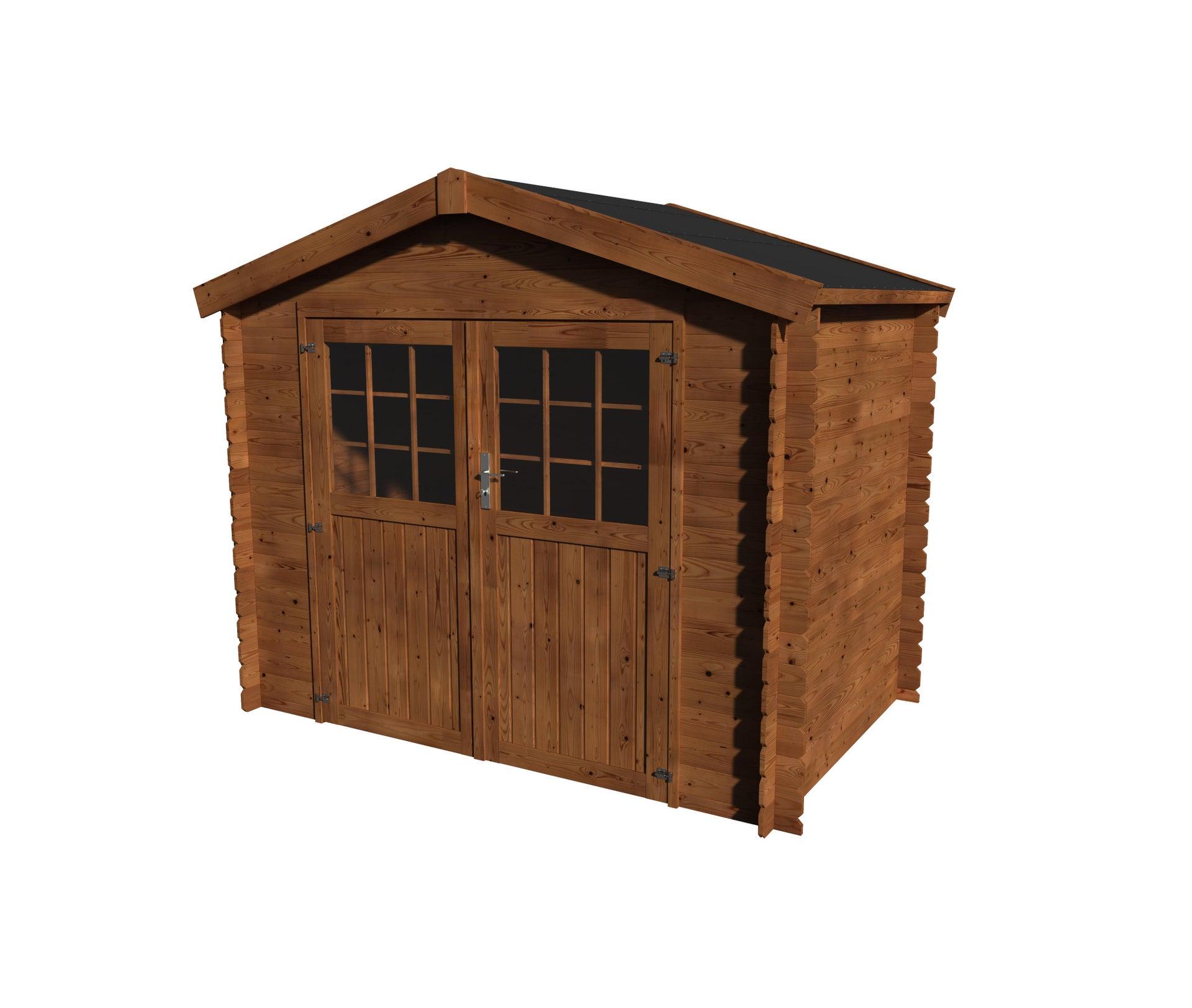 Casetta da giardino in legno Impregnata Narciso, superficie interna 3.73 m² e spessore parete 19 mm - 2