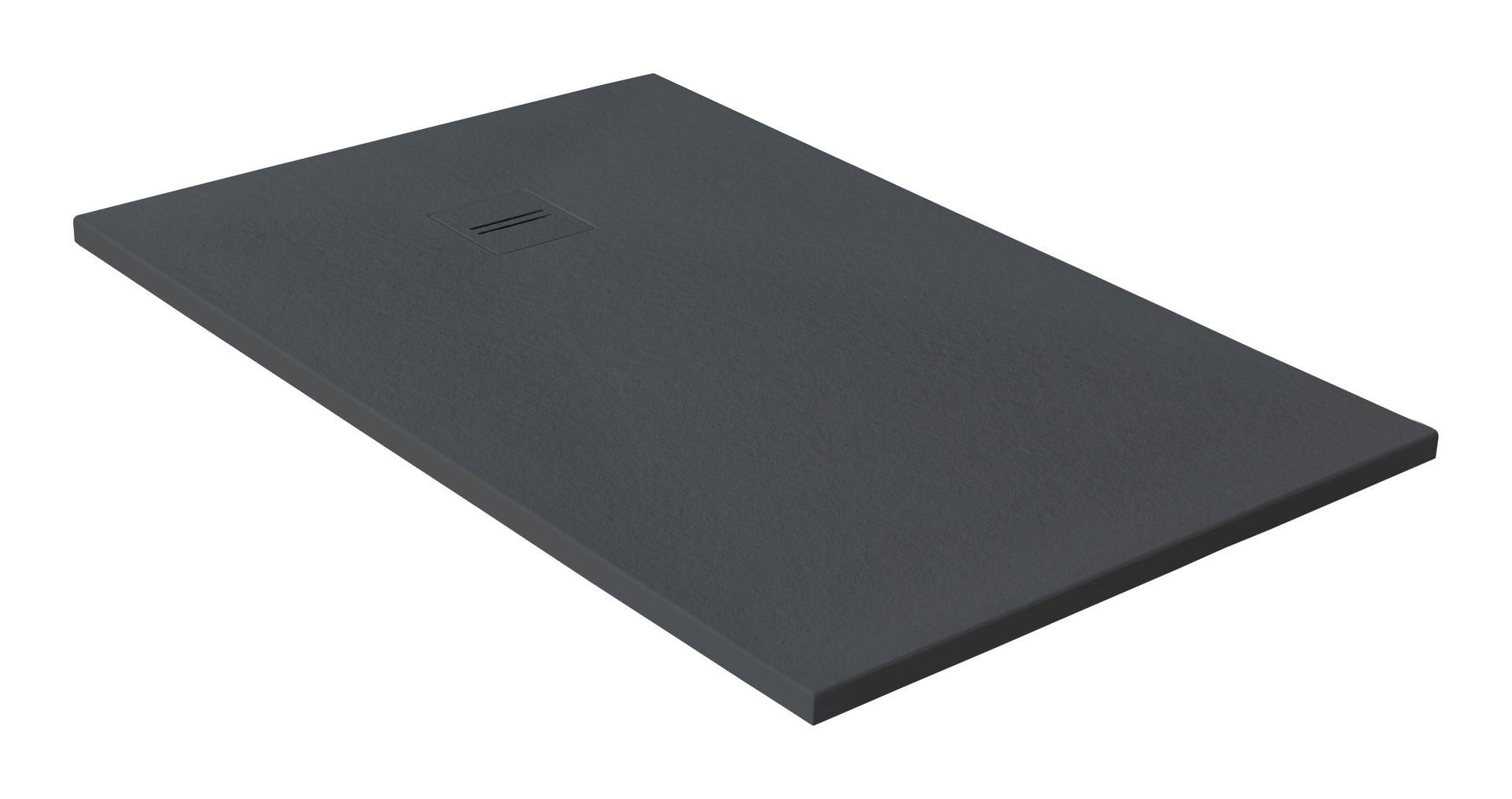 Piatto doccia ultrasottile resina Cosmos Stone 100 x 120 cm grigio - 1