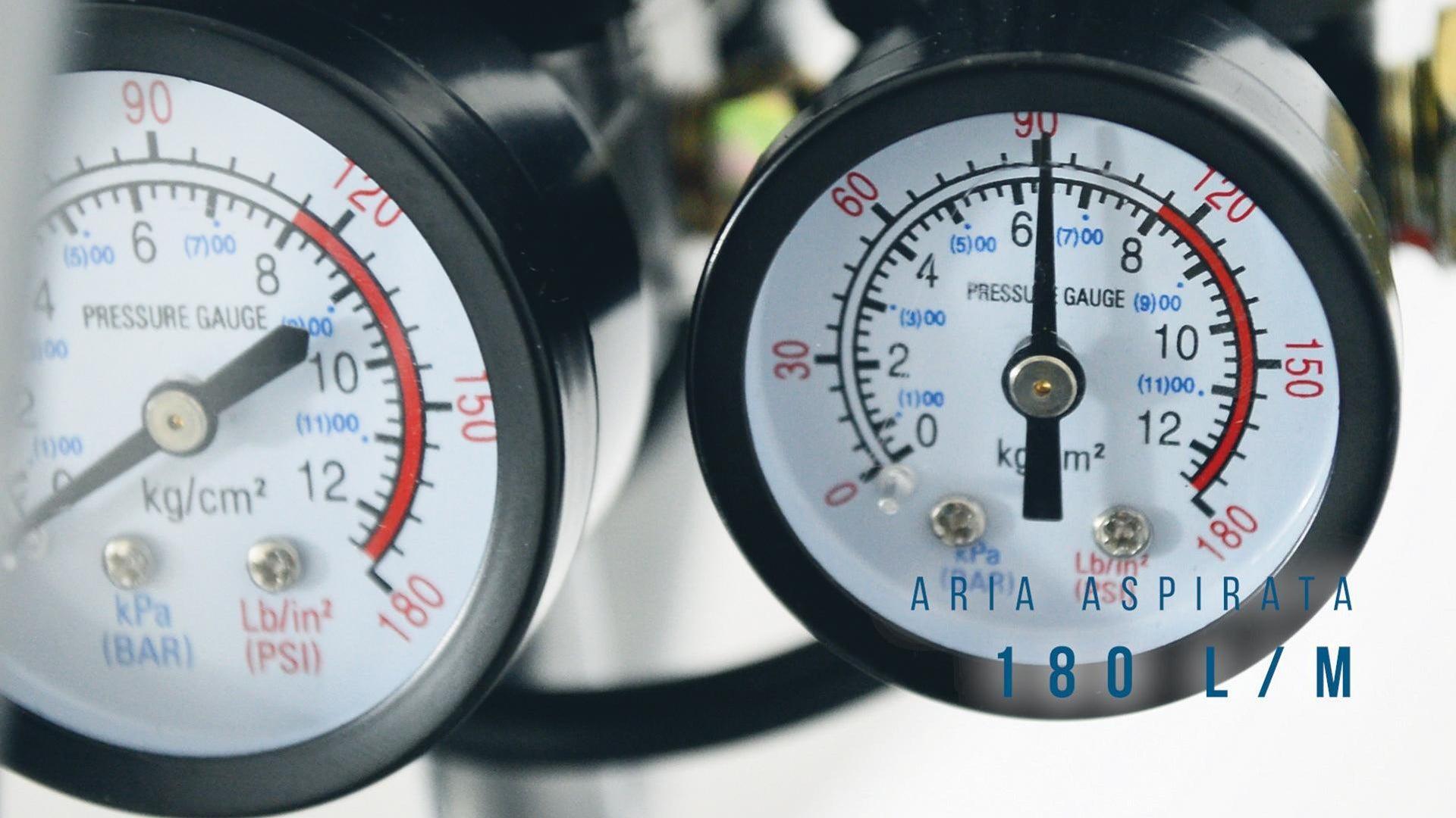 Compressore silenziato HYUNDAI Supersilent, 1 hp, 8 bar, 24 L - 3