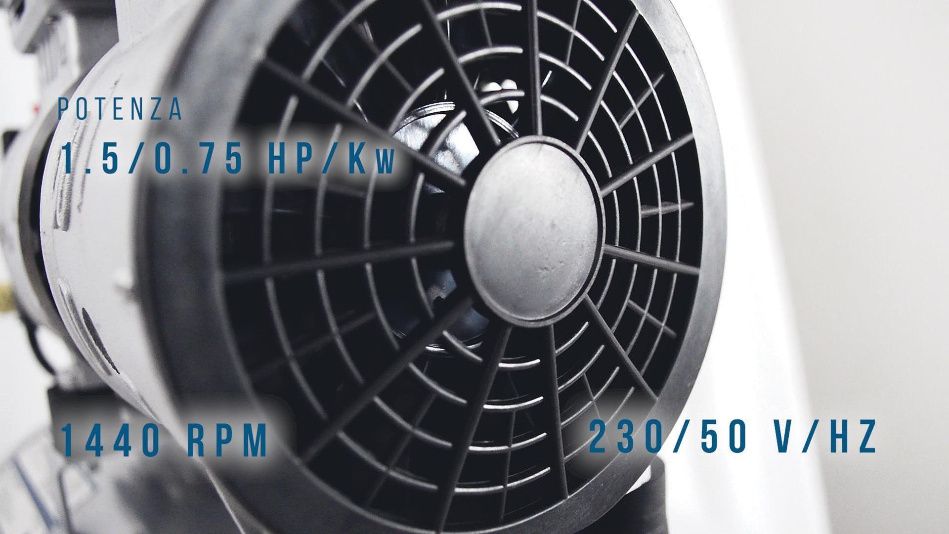 Compressore silenziato HYUNDAI Supersilent, 1 hp, 8 bar, 24 L - 6