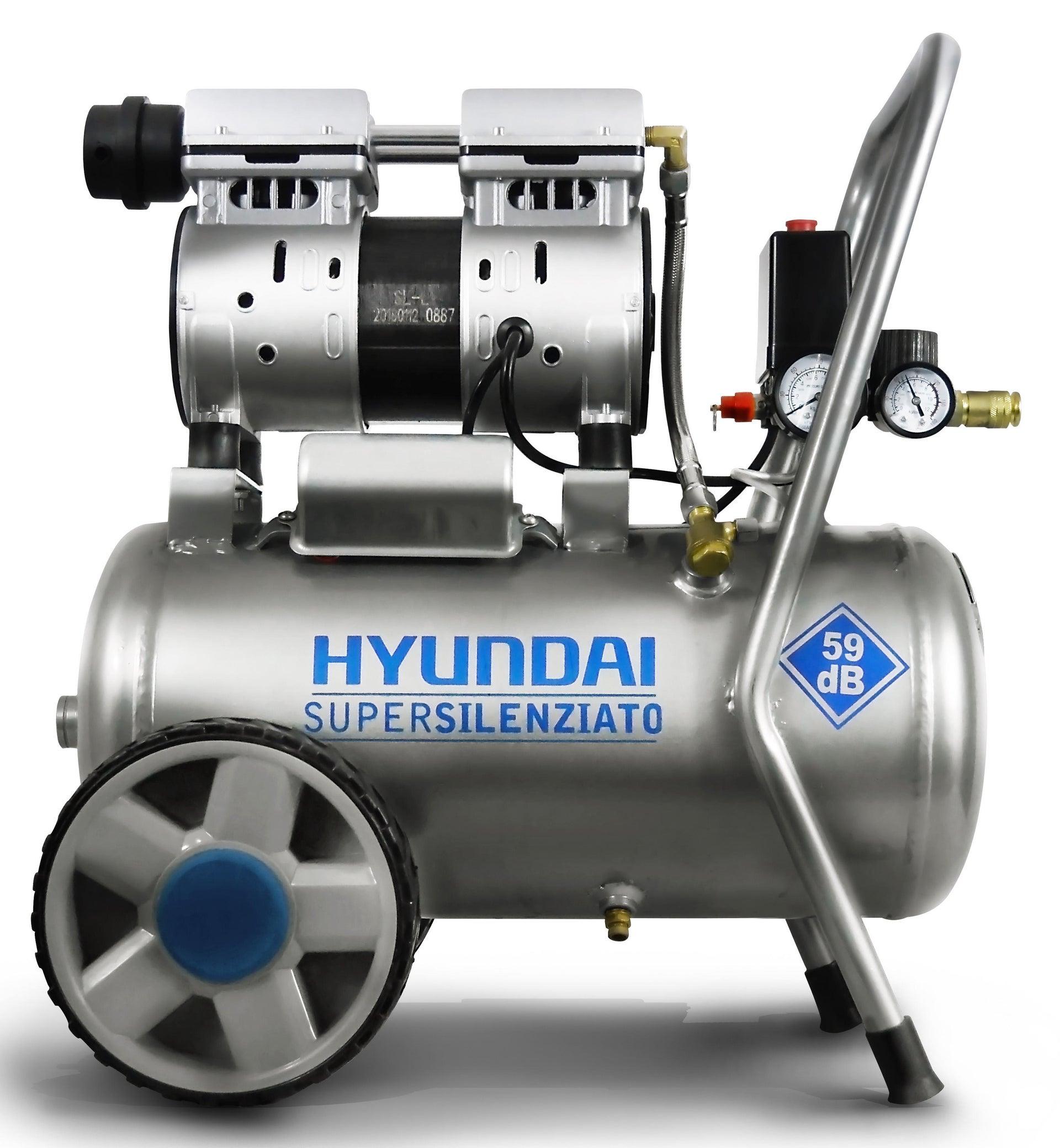 Compressore silenziato HYUNDAI Supersilent, 1 hp, 8 bar, 24 L - 1
