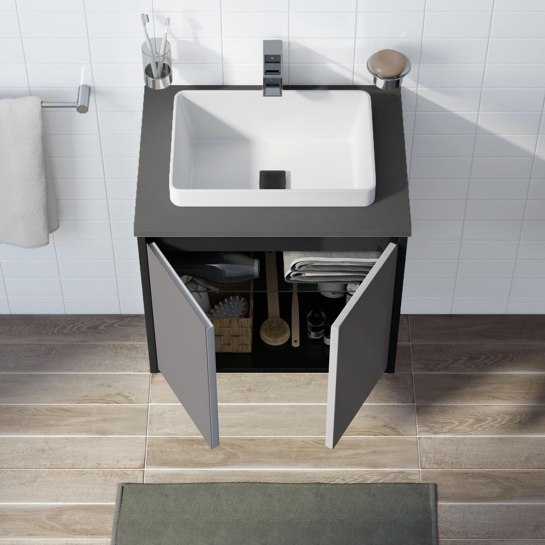 Mobile bagno Loto grigio L 60 cm - 2