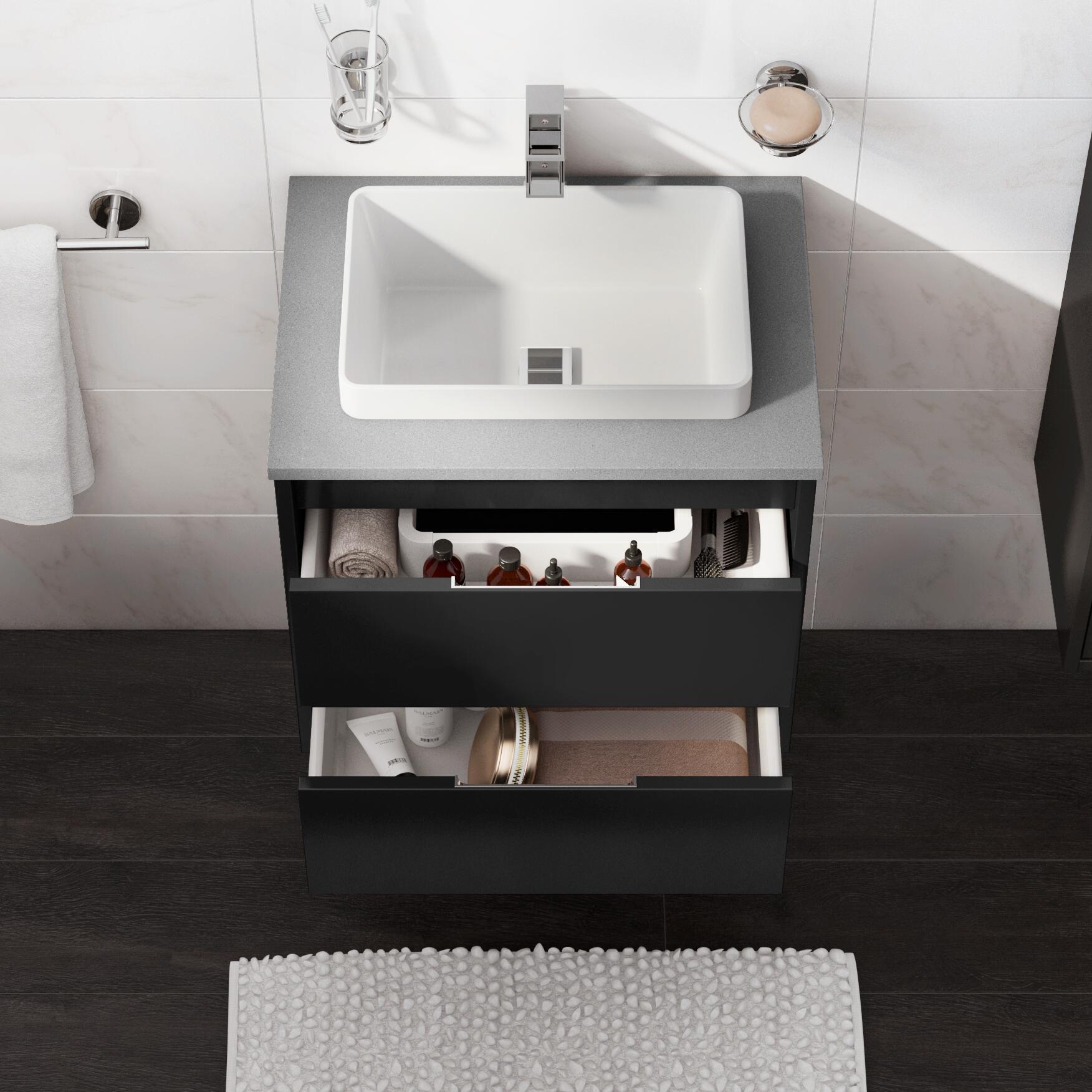Mobile bagno Loto grigio L 60 cm - 3