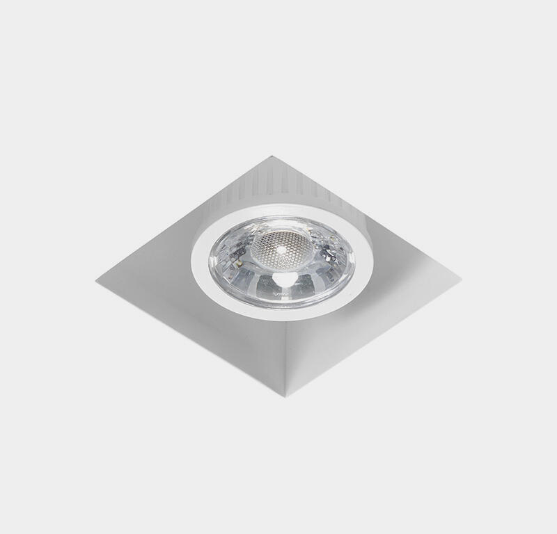 Faretto fisso da incasso quadrato Olympia in Gesso bianco, 9.5xGU10 MAX40W IP20 TECNICO - 3