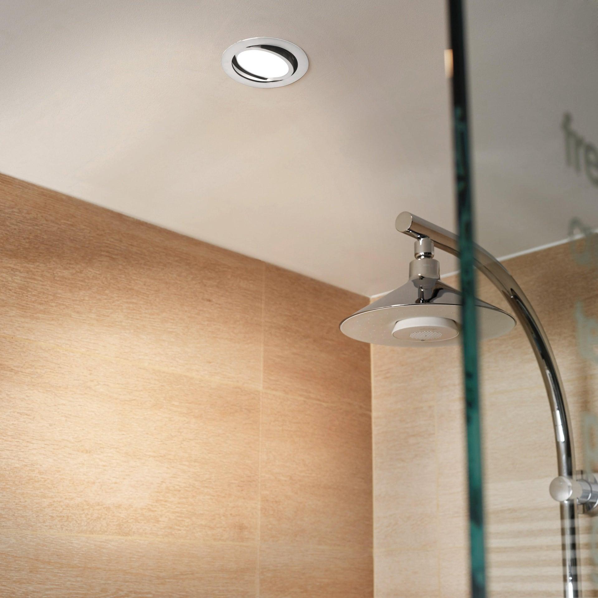 Faretto orientabile da incasso tondo Lindi in Alluminio bianco, diam. 9 cm LED integrato 500LM IP65 INSPIRE - 2