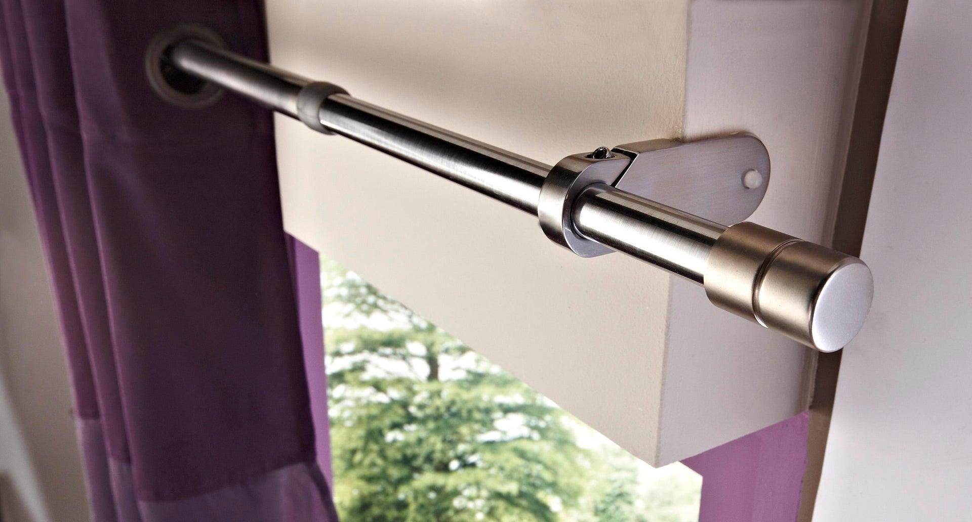 Bastone per tenda a pressione estensibile Ib+ in metallo Ø 25 mm nero opaco Da 60 a 100 cm - 4