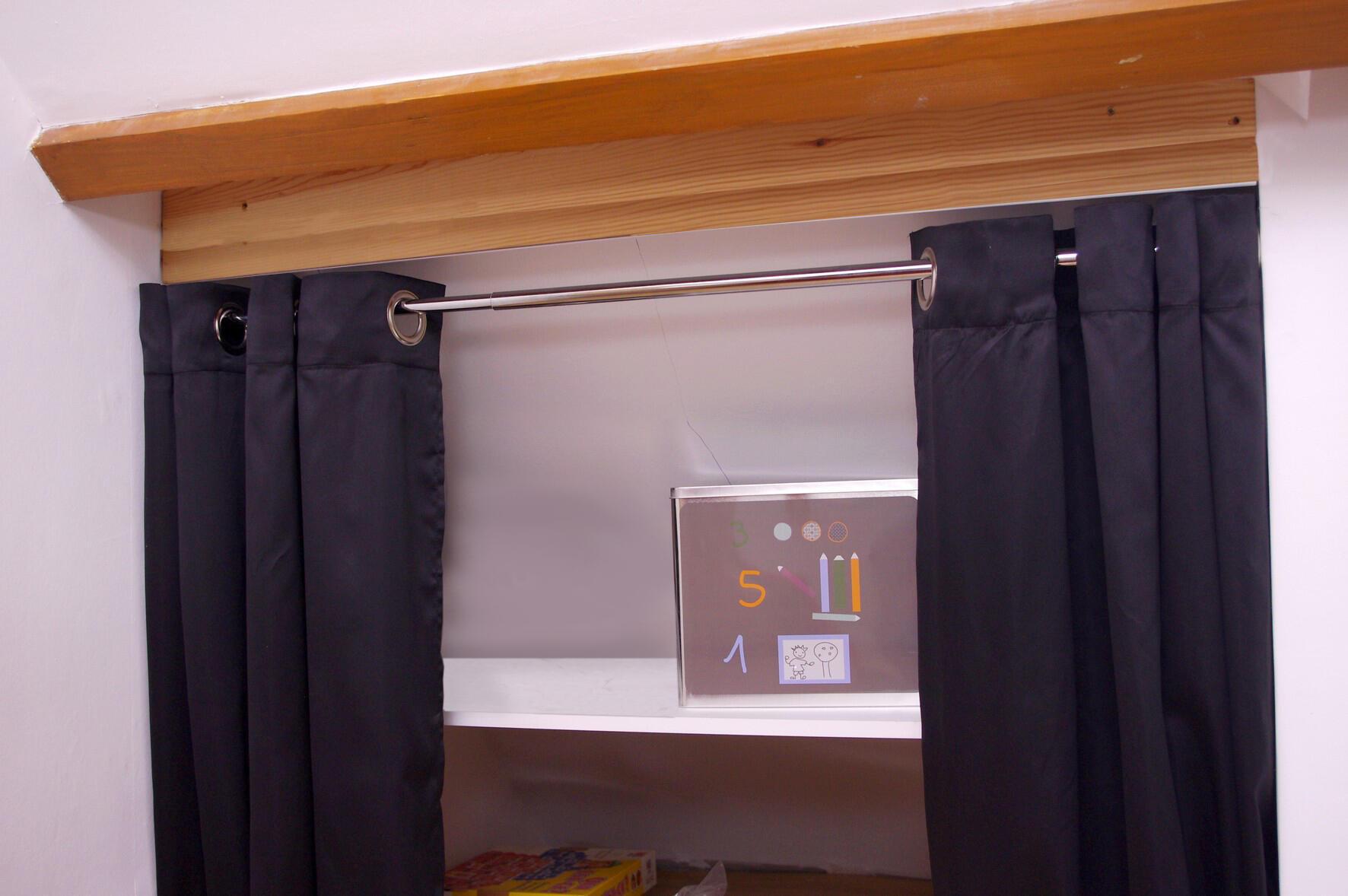 Kit bastone per tenda a pressione estensibile Ib + in metallo Ø 25 mm bianco satinato da 200 a 330 cm - 4