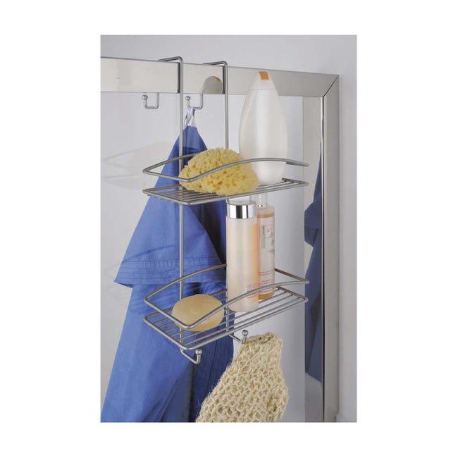 Vassoio Shower Lock 2 ripiani satin - 1