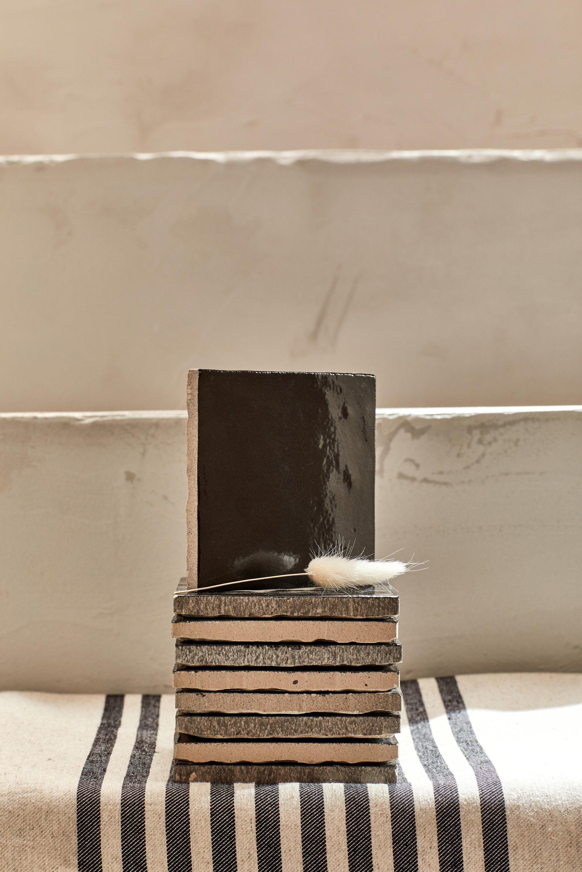 Piastrella per rivestimenti Zelli 10 x 10 cm sp. 10 mm nero - 7